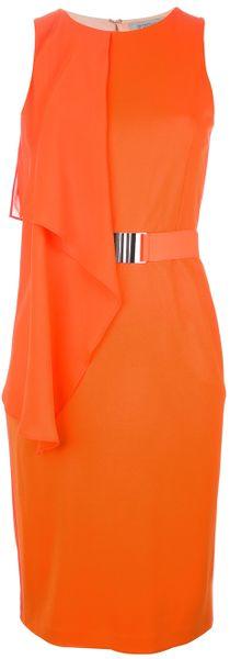 Sportmax vestido com cinto mangas - Lyst