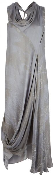 Gustavo Lins Asymmetric Dress - Lyst