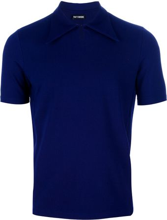 Raf Simons Pointed Collar Polo Shirt - Lyst