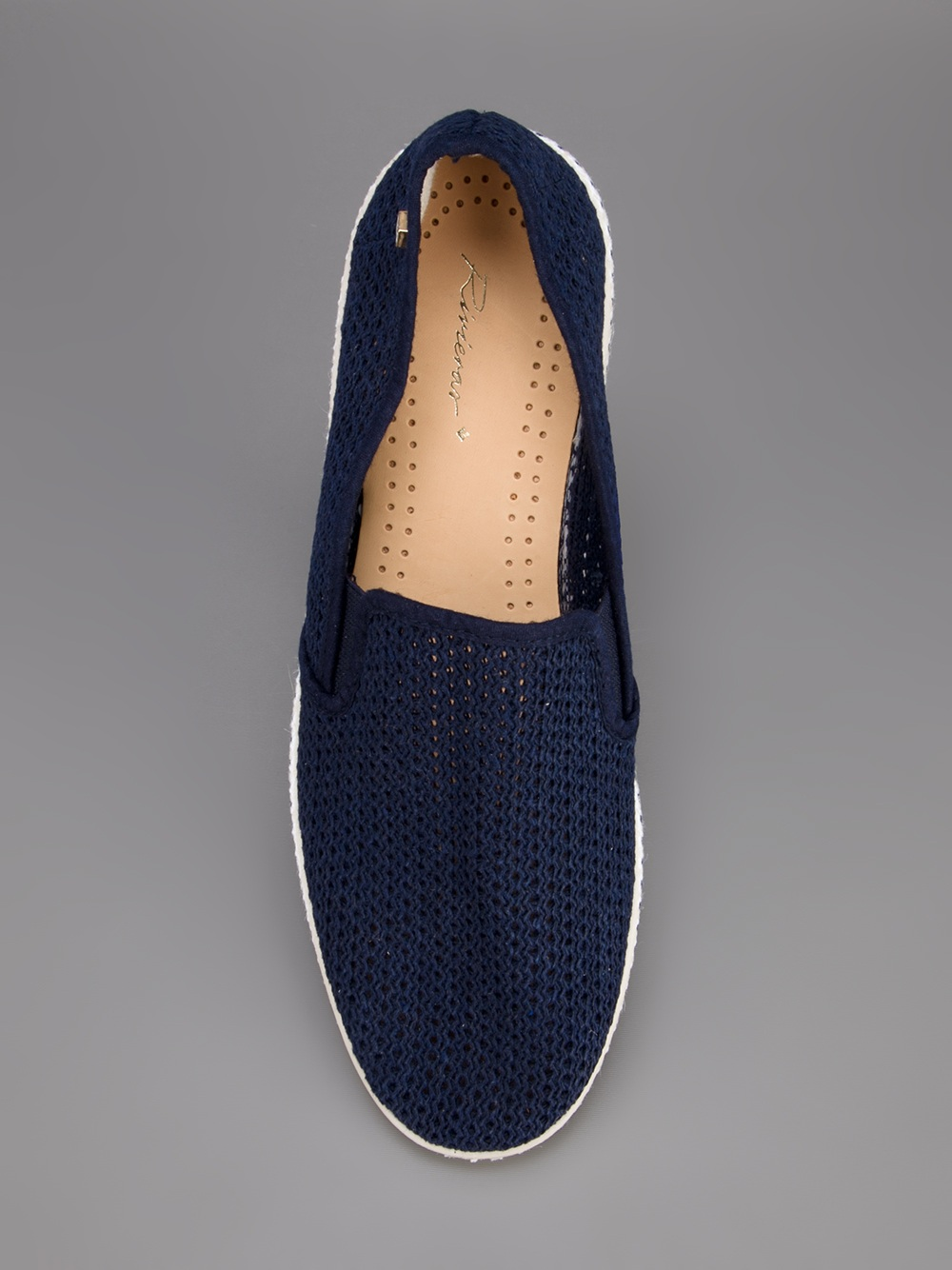 riviera mesh slip on shoe in blue for navy lyst