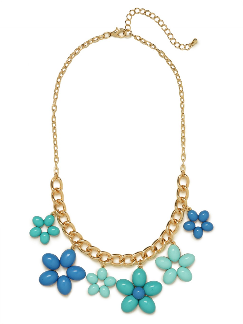 baublebar blue floral charm necklace in blue lyst