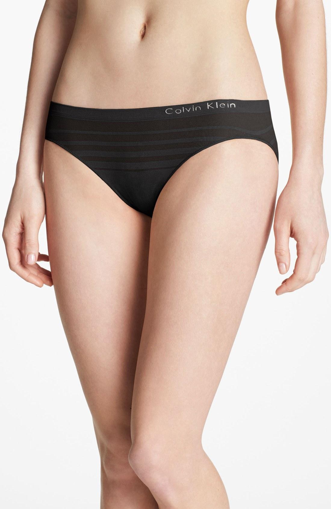 Calvin Klein Seamless Bikini In Black Lyst