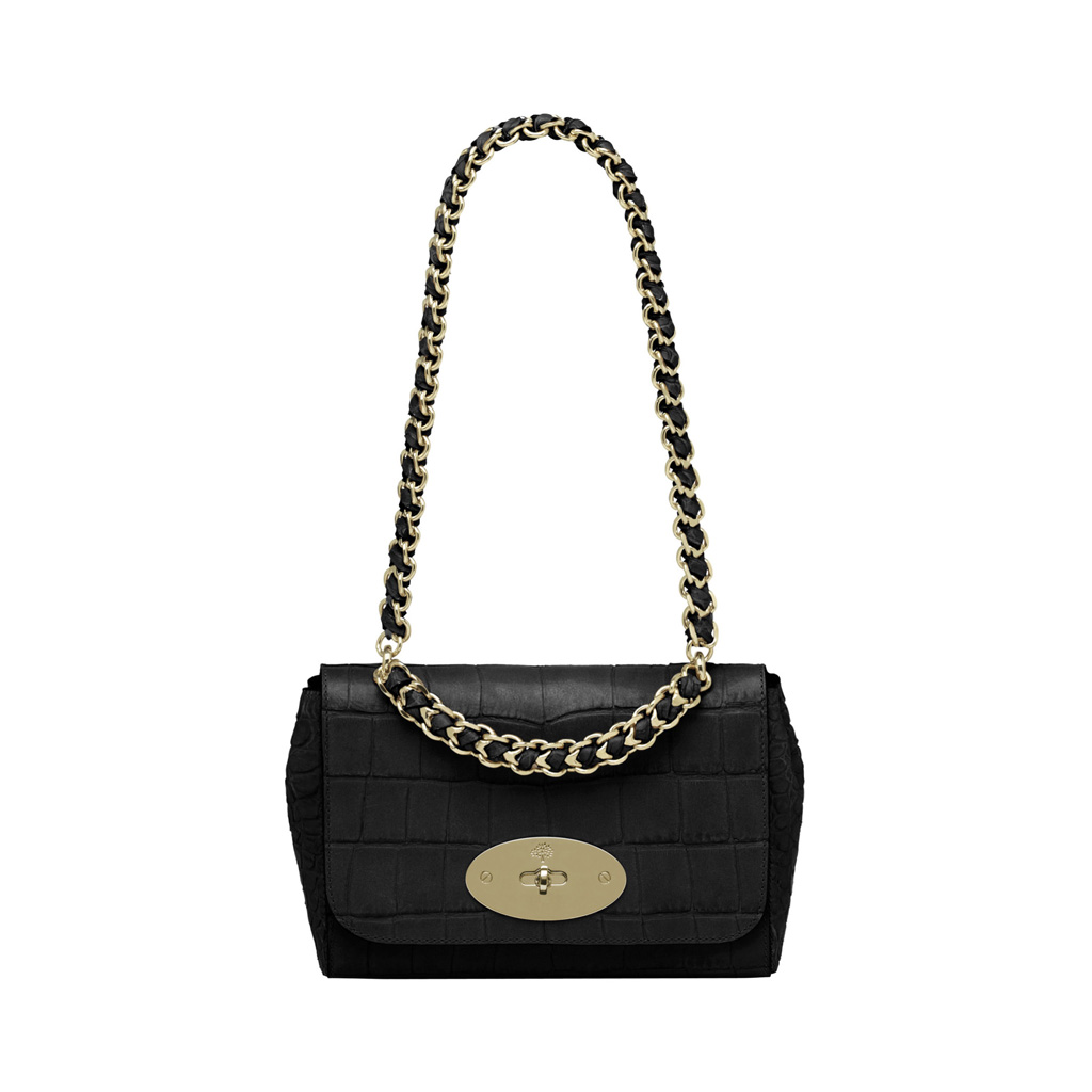 Mulberry Cecily In Black Soft Croc Print Black Lyst