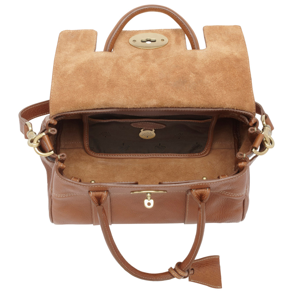 ... free shipping lyst mulberry small bayswater satchel in brown 09c33  cb120 ... 7d4edfb47229e