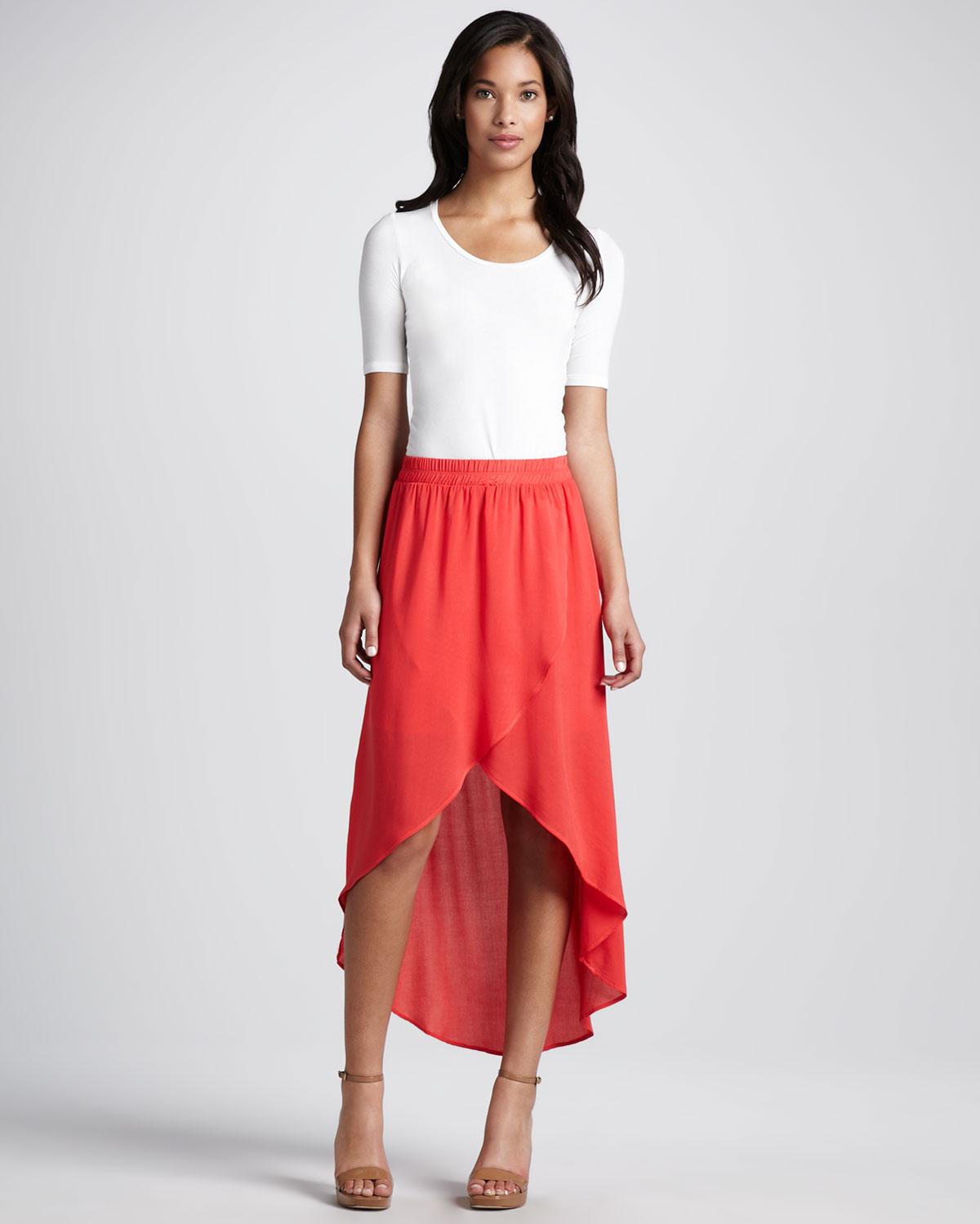 Red Flowy Skirt Redskirtz