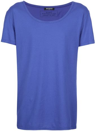 Balmain Short-sleeved T-shirt - Lyst