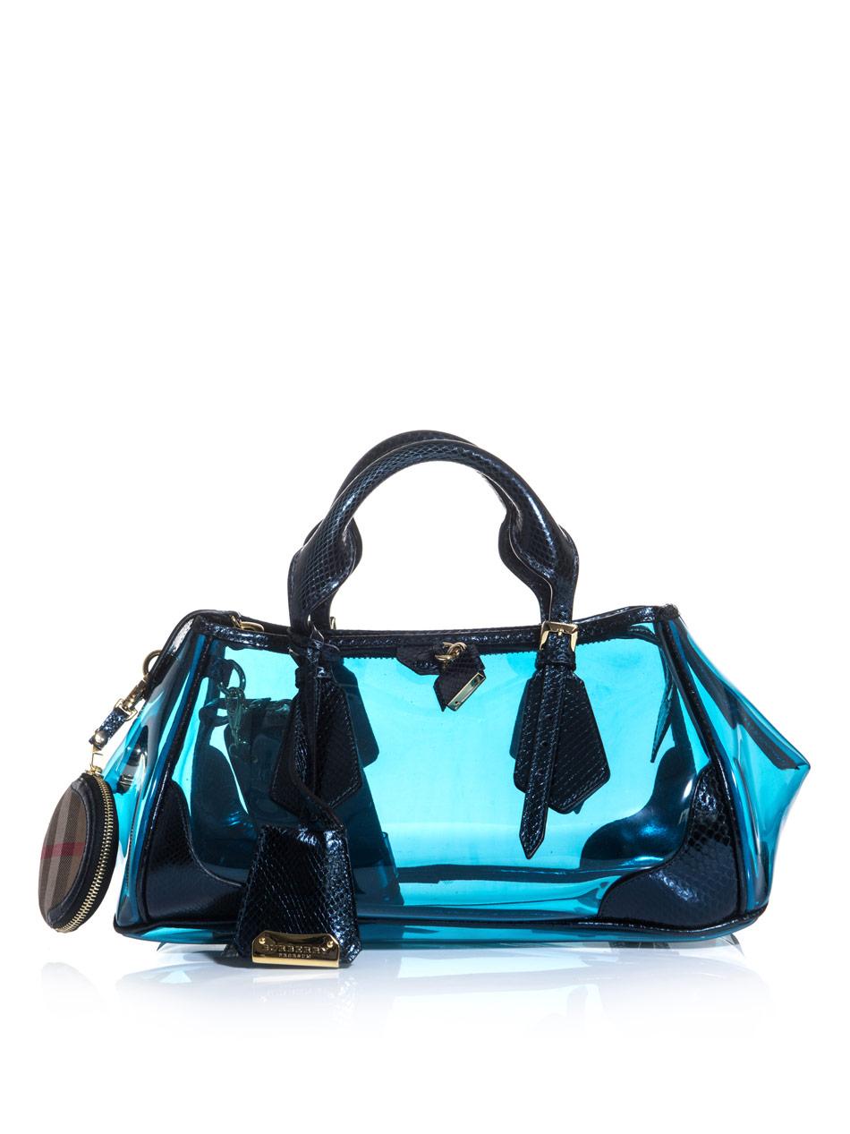 Burberry Prorsum The Blaze Bag in Blue - Lyst 0f258a2c842c0