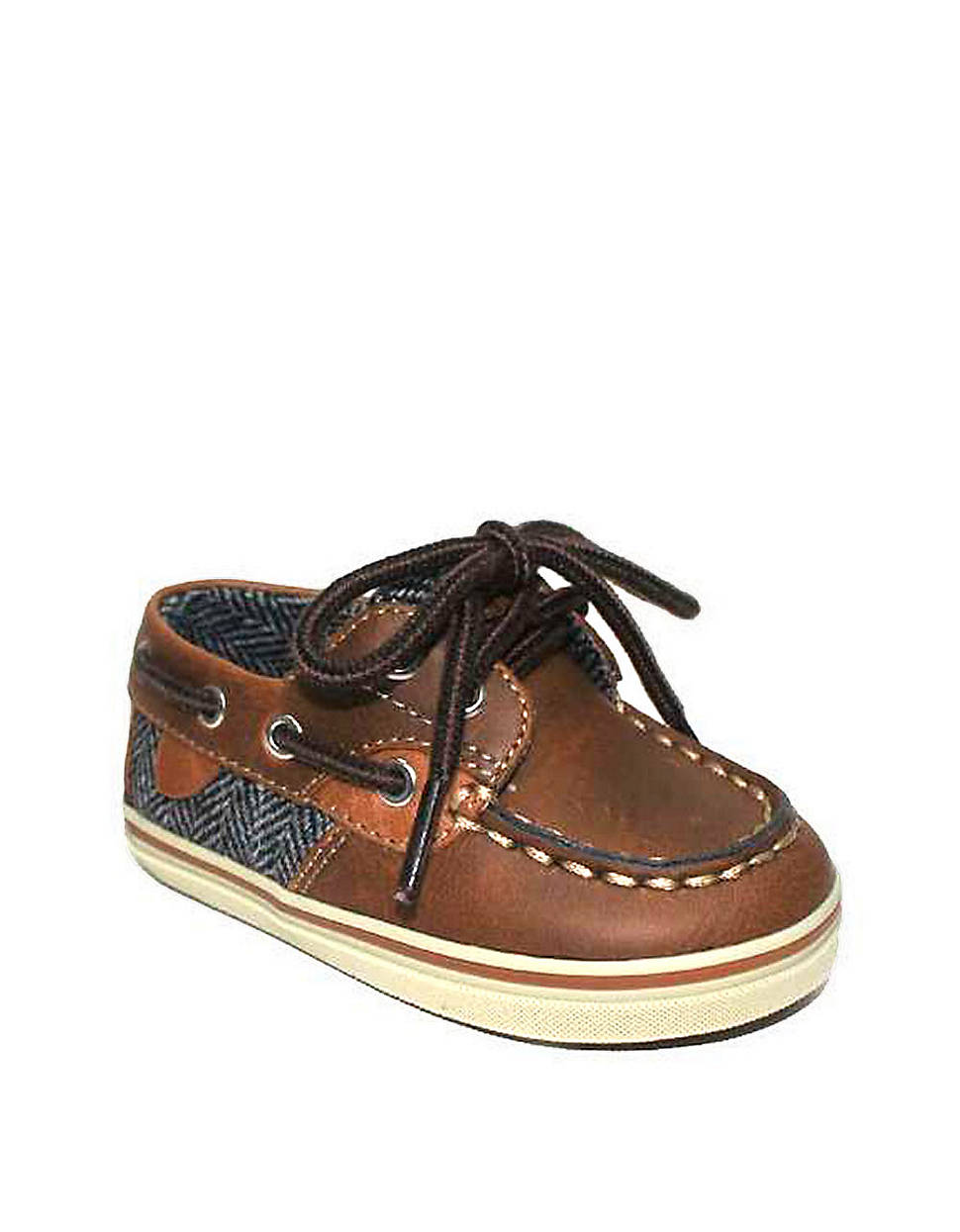 Cole Haan Newborn Boys 09 Months Brown Mini Cory Boat Shoes in Brown