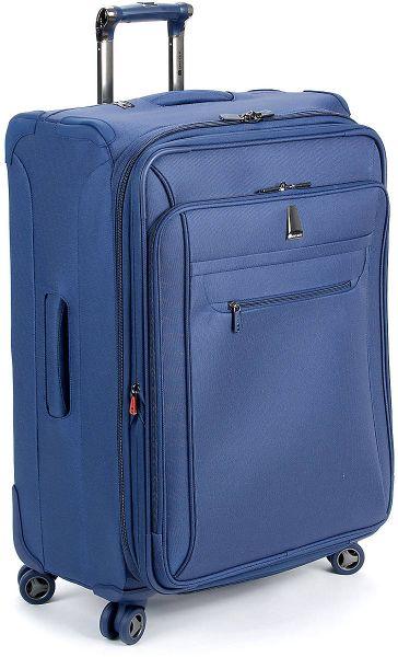 delsey helium xpert lite 25 expandable suiter trolley in blue for men lyst. Black Bedroom Furniture Sets. Home Design Ideas