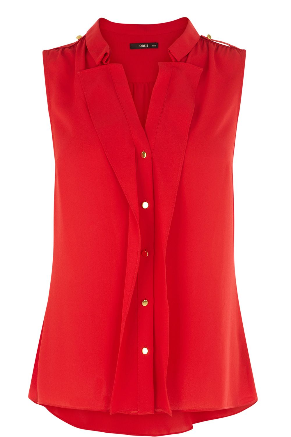 Lyst Oasis Sleeveless 2 Collar Frill Shirt In Red