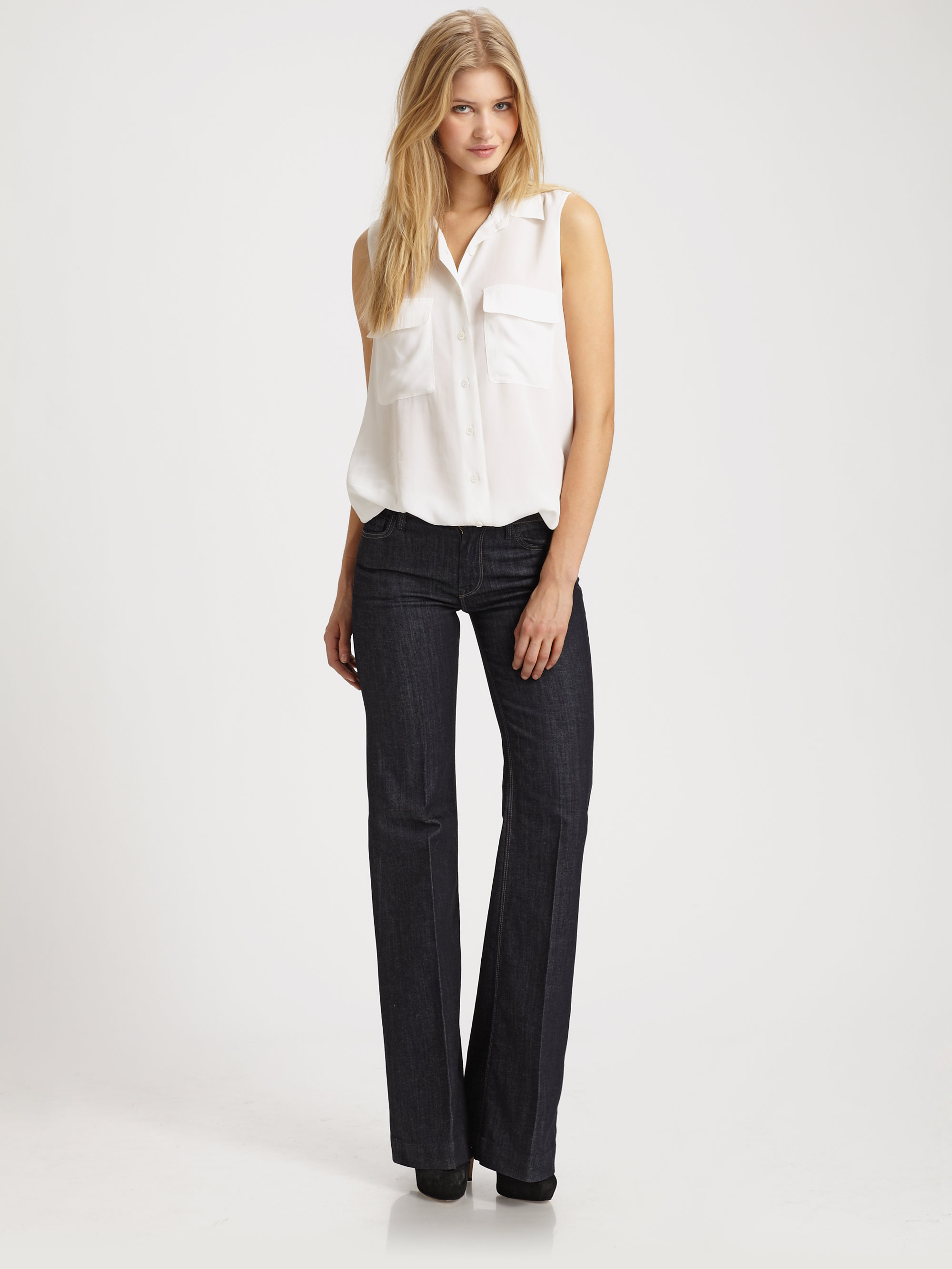 7 for all mankind Ginger Wide-leg Jeans in Blue | Lyst