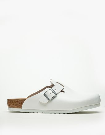 Birkenstock Boston in White - Lyst