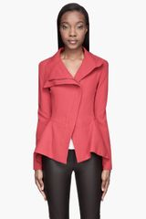 Gareth Pugh Red Frill Hem Jacket