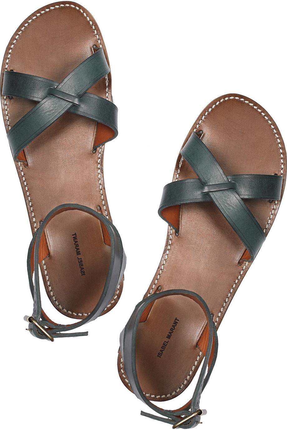 637c7c0de907b Lyst - Isabel Marant Merry Leather Sandals in Green