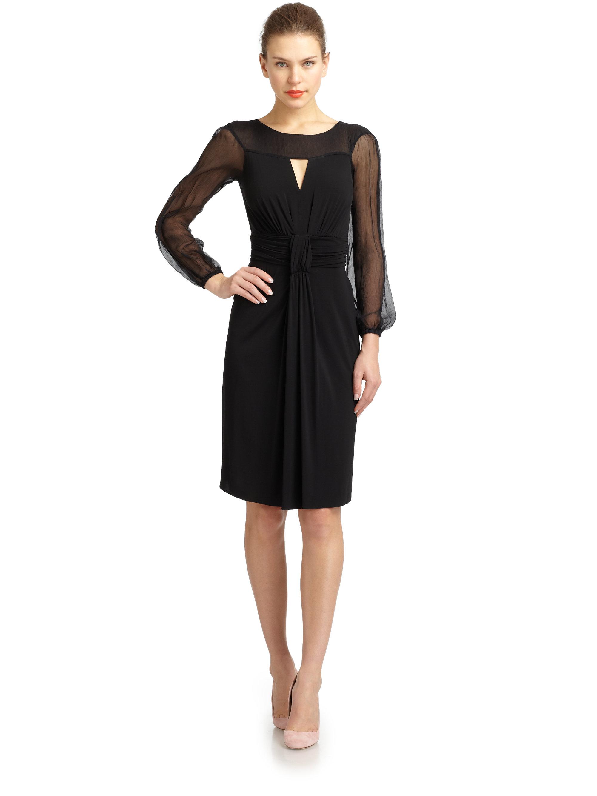 Philosophy di alberta ferretti black dress