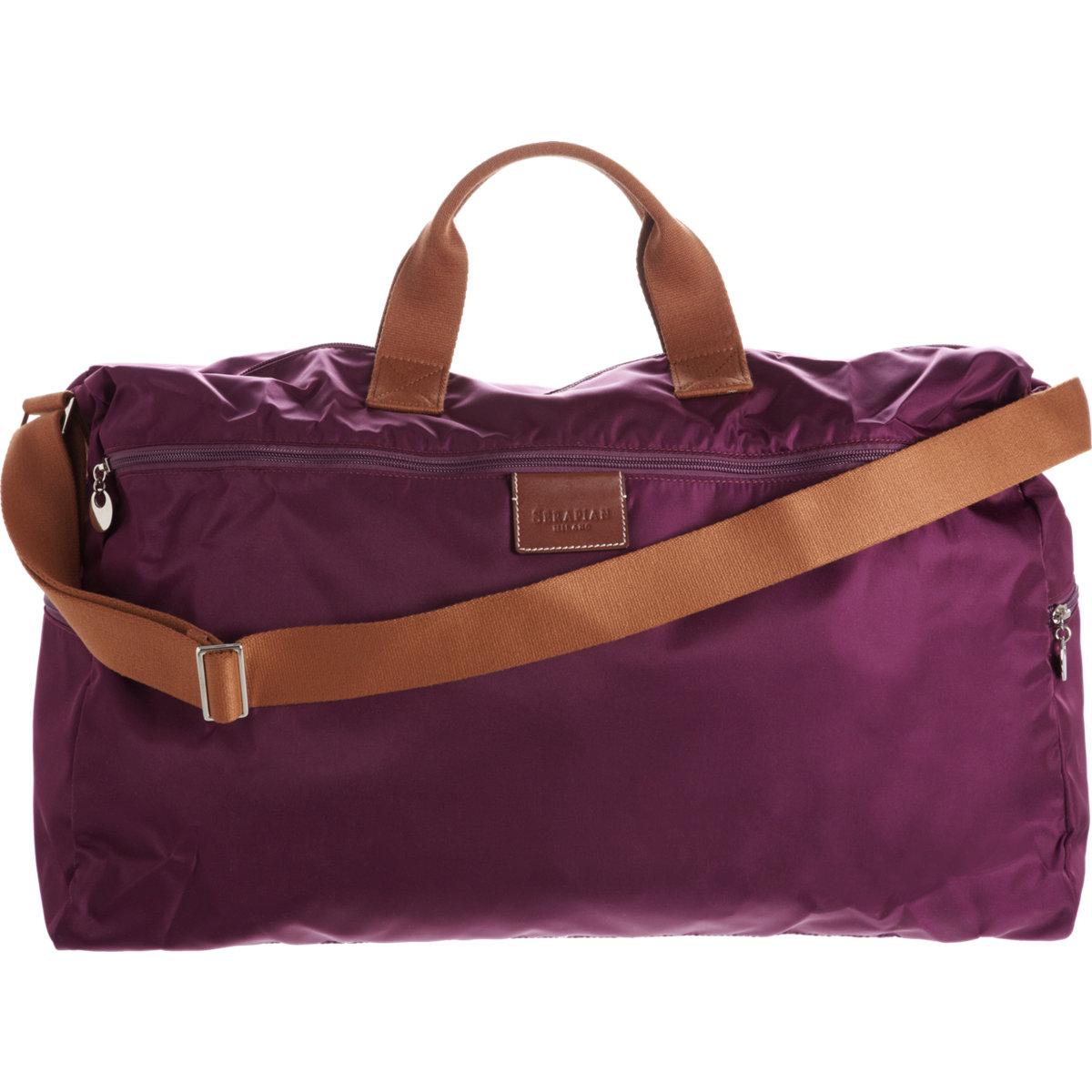 serapian packable duffel bag in purple for lyst