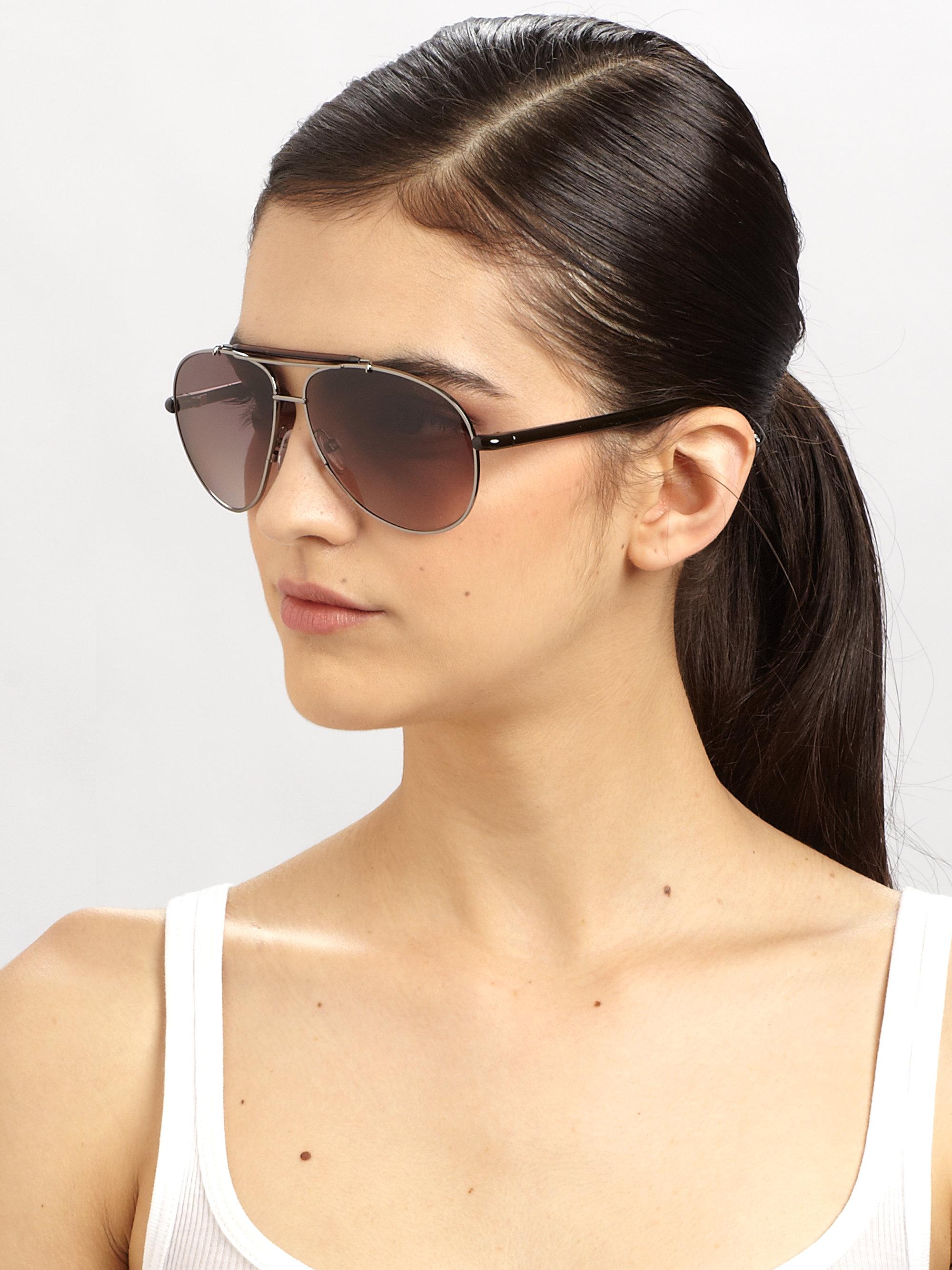 Lyst Tom Ford Bradley Metal Aviator Sunglasses In Black