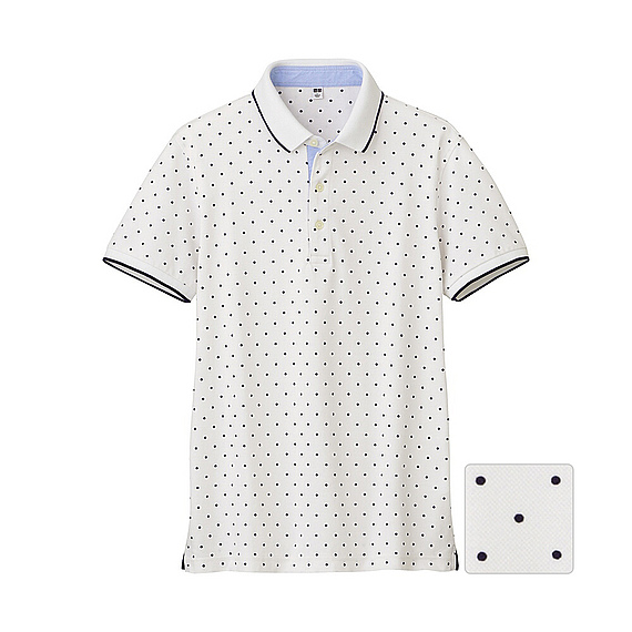 Lyst Uniqlo Dry Pique Printed Short Sleeve Polo Shirt J In White