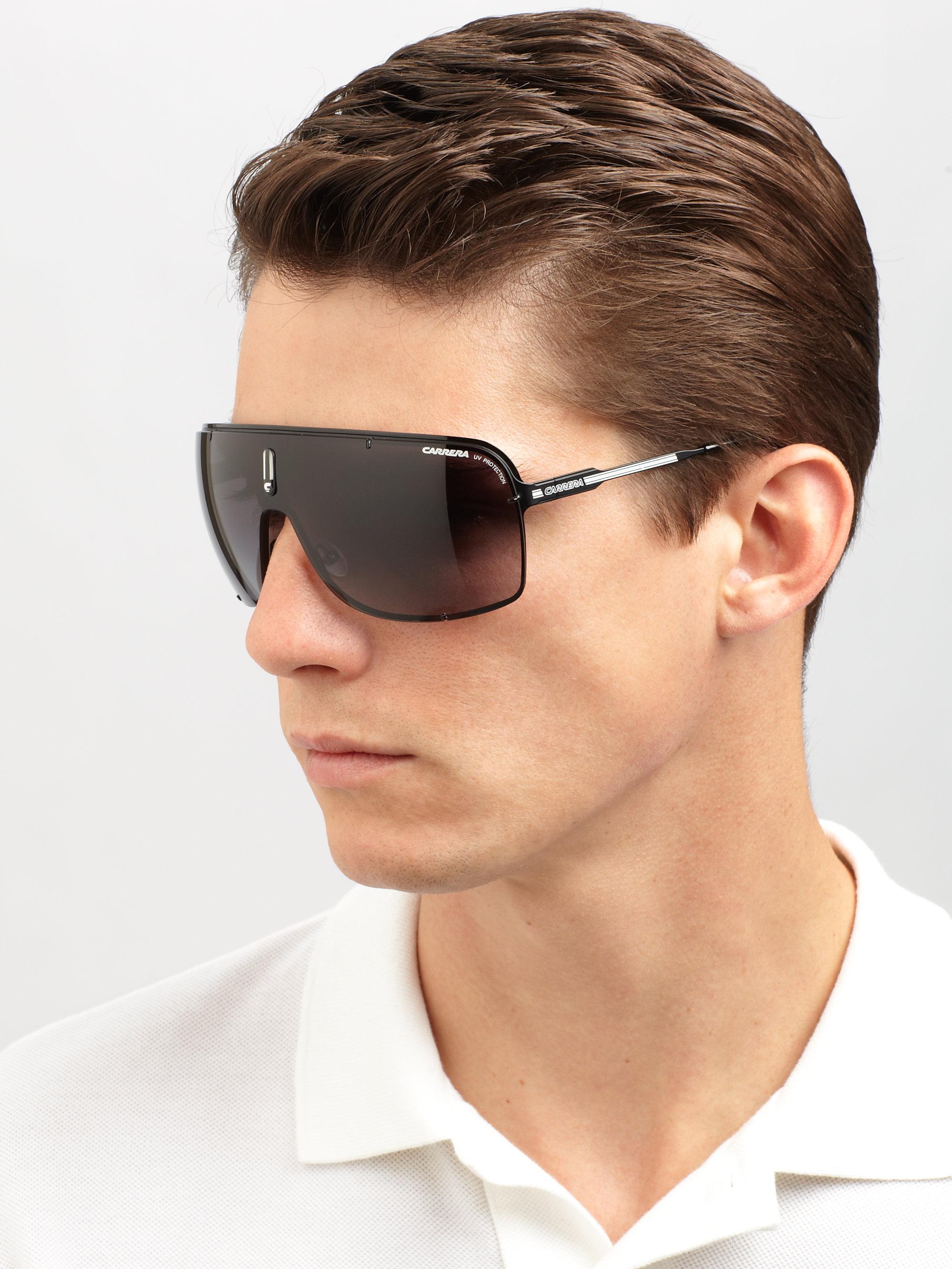d221c0ddf706 Carrera Metal Shield Sunglasses in Black for Men - Lyst