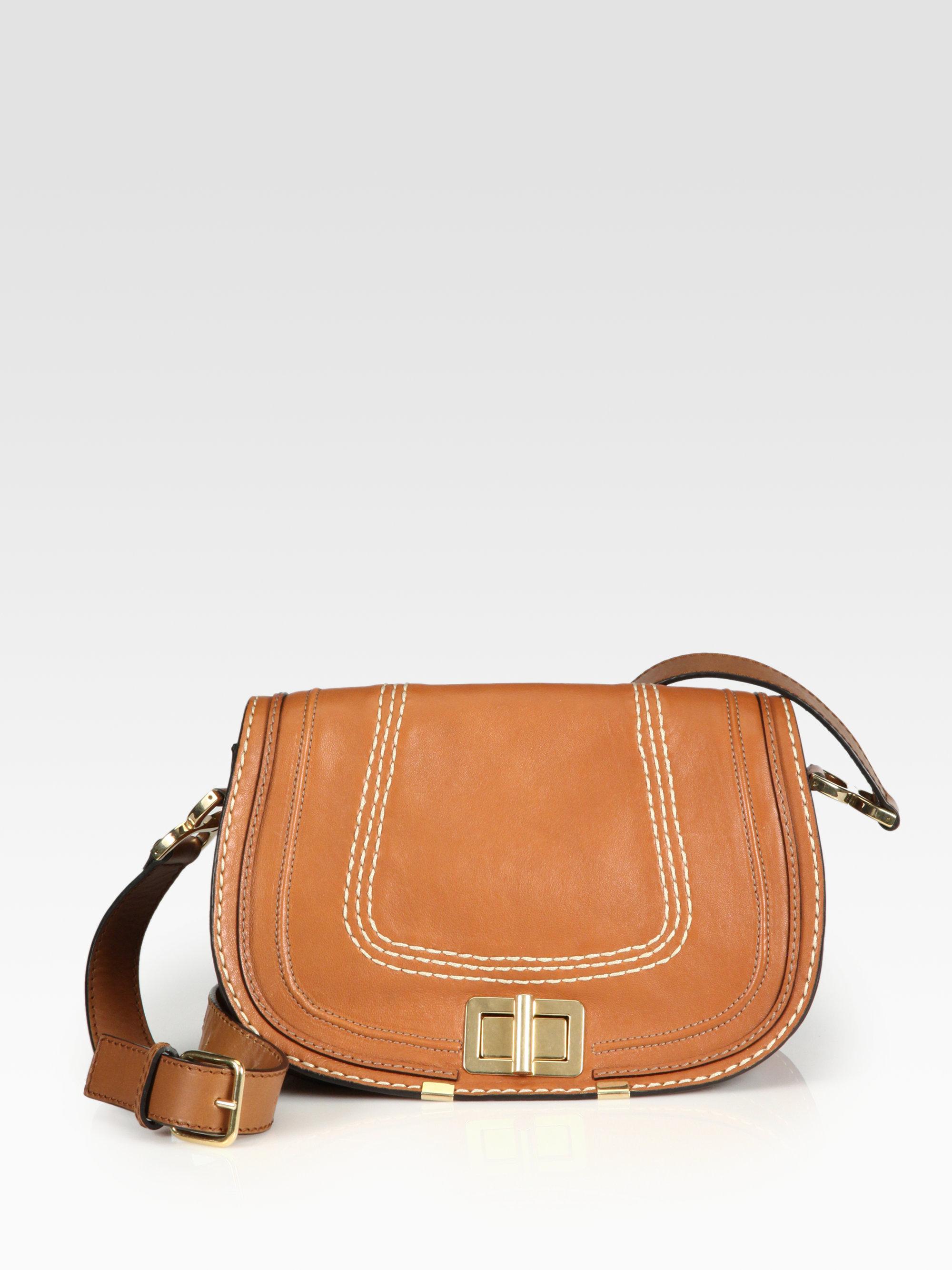 chlo marcie large crossbody bag in brown lyst. Black Bedroom Furniture Sets. Home Design Ideas
