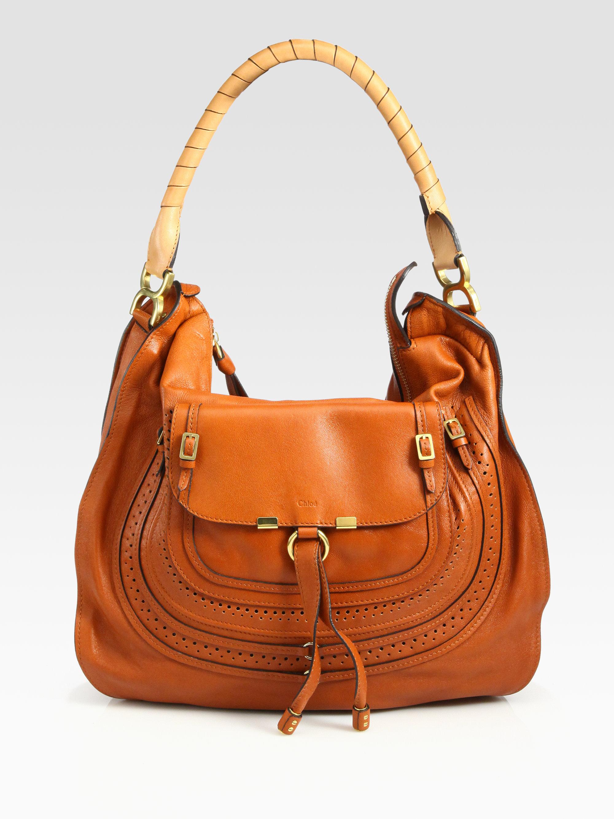 Chloé Marcie Animation Hobo Bag in Orange | Lyst