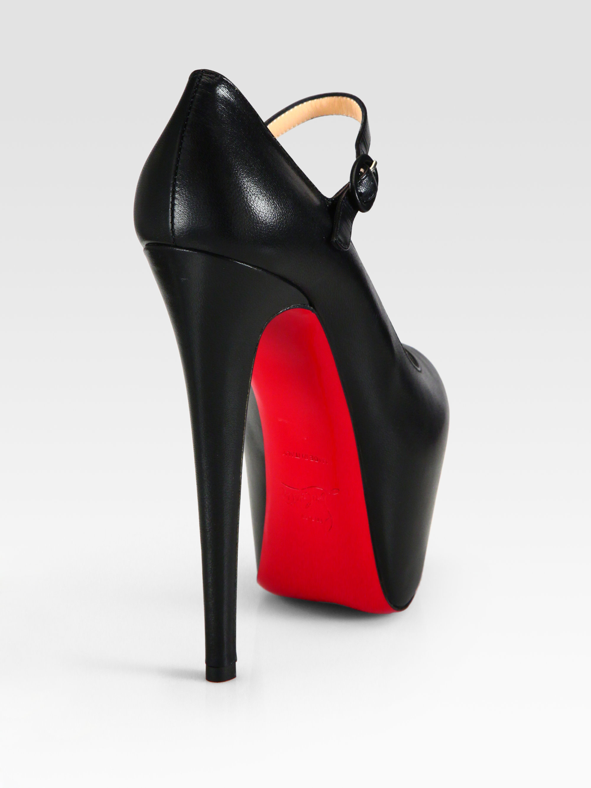 0bcd3c6d6de2 ... best price lyst christian louboutin leather and patent leather mary  jane c5b47 d05ce
