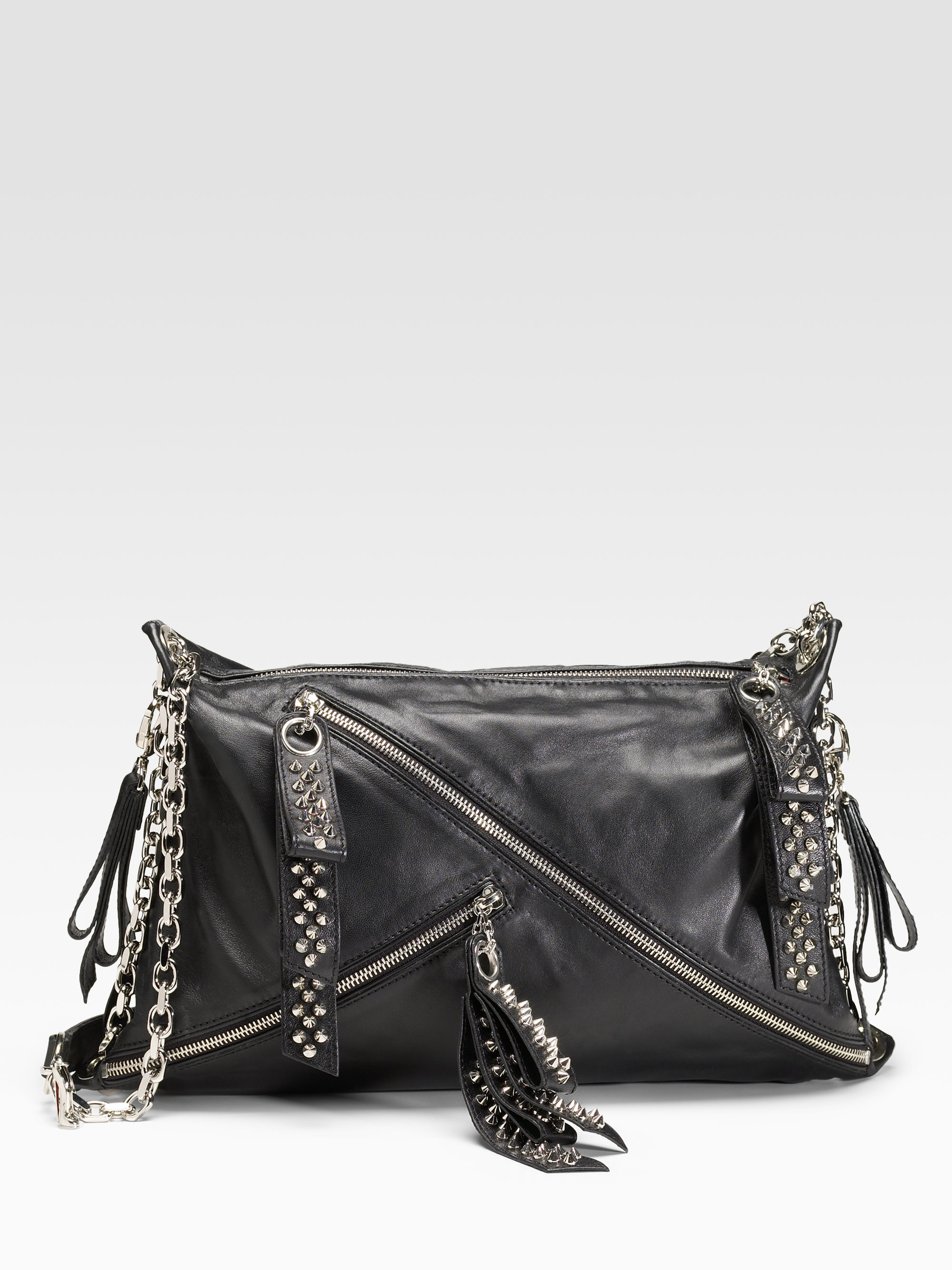 925fb206e63 Christian Louboutin Black Trophe Studded Nappa Bag