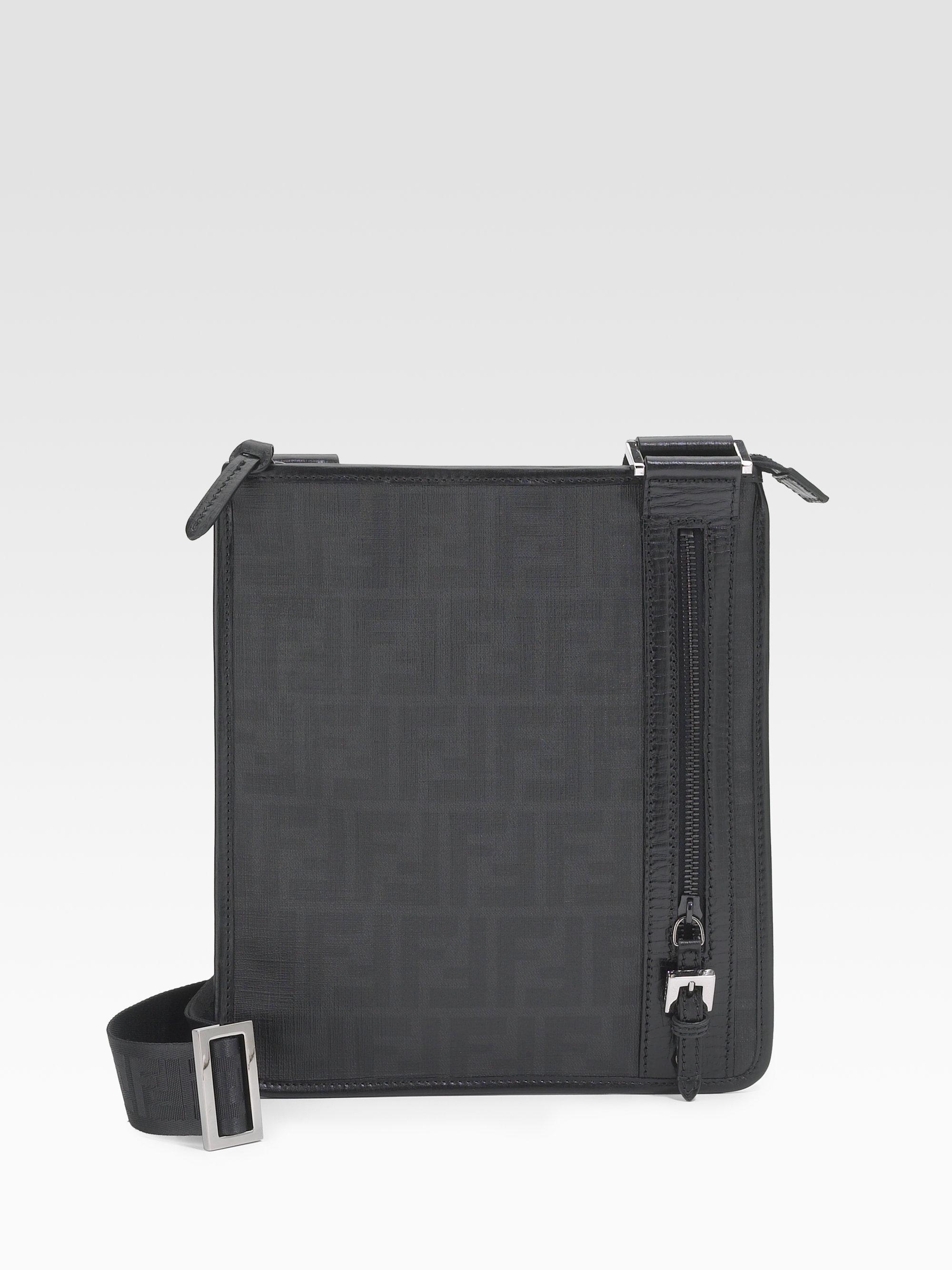 77a1596083 Lyst - Fendi Crossbody Messenger Bag in Black for Men