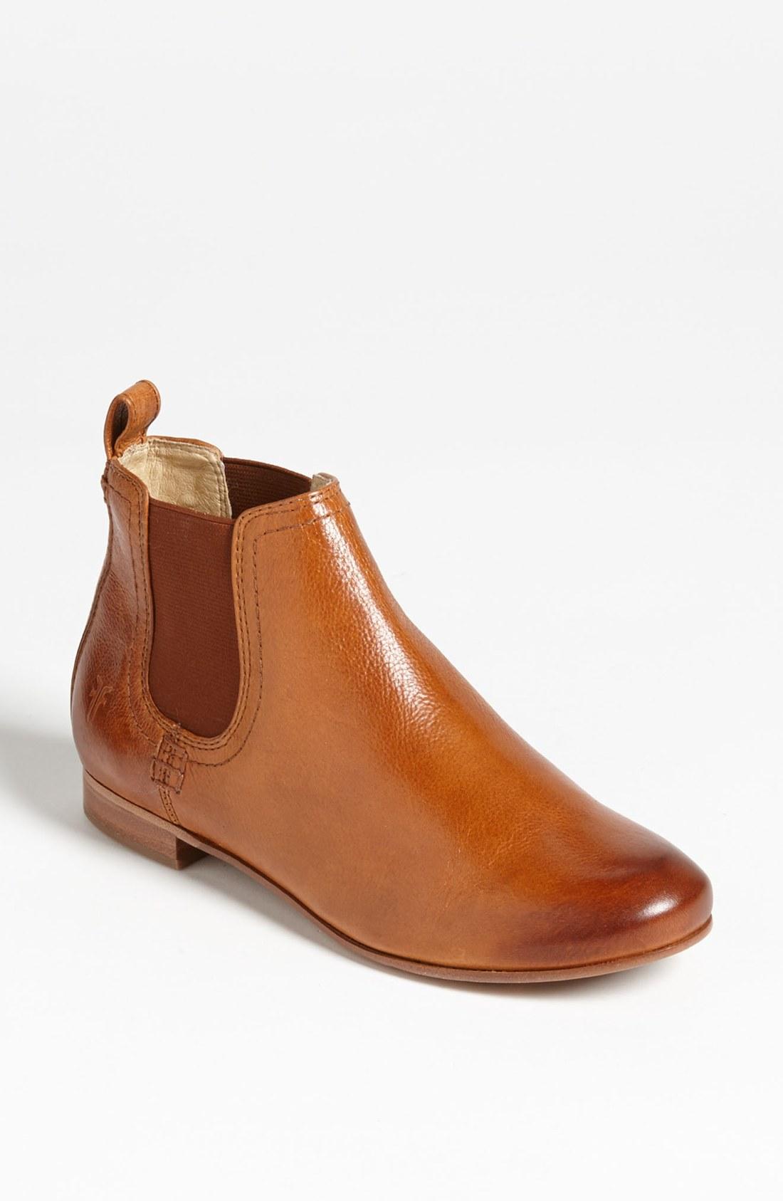 frye jillian chelsea boot in brown whiskey lyst
