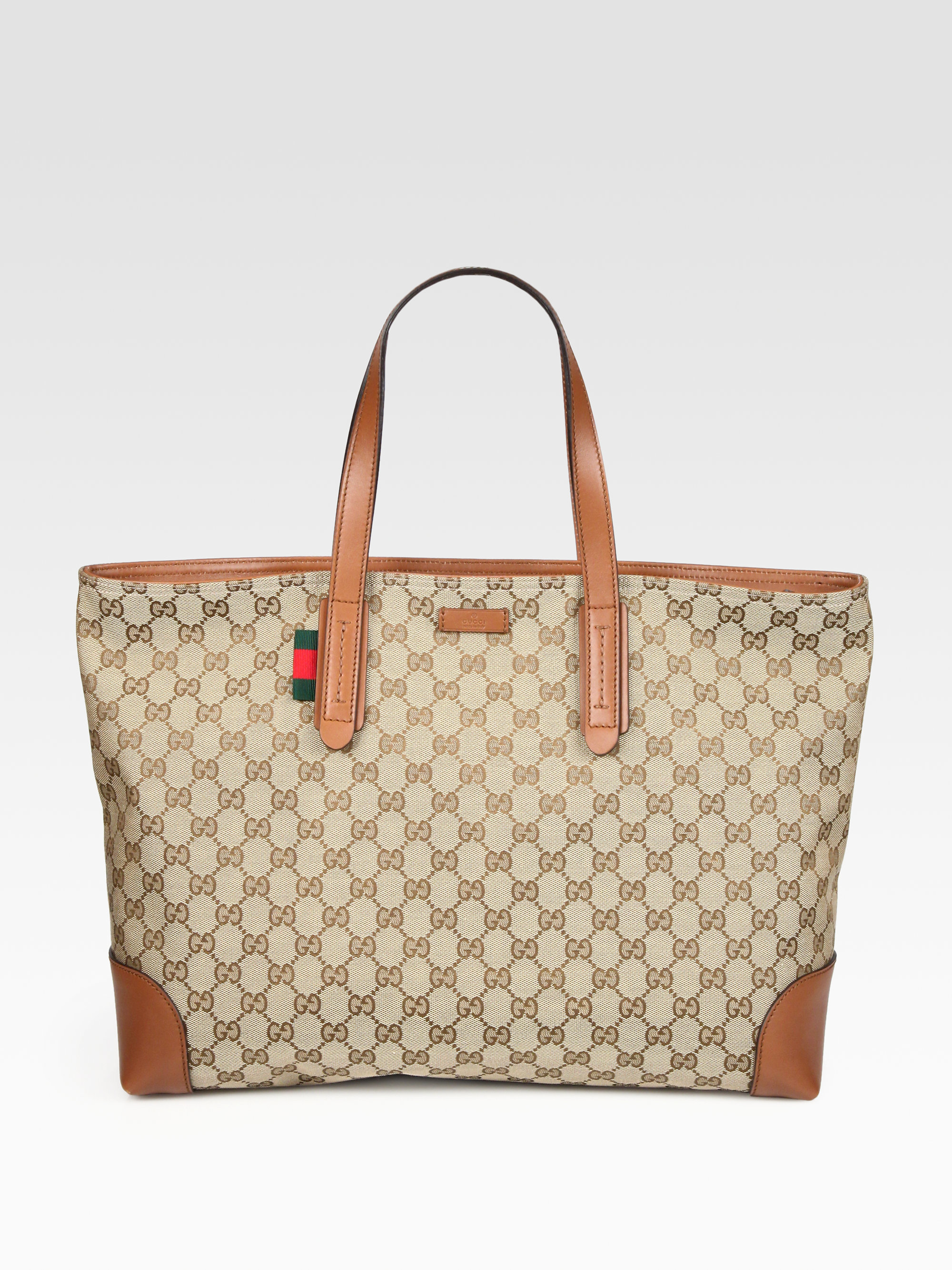 f1c49473113 Lyst - Gucci Large Original Gg Canvas Tote in Brown
