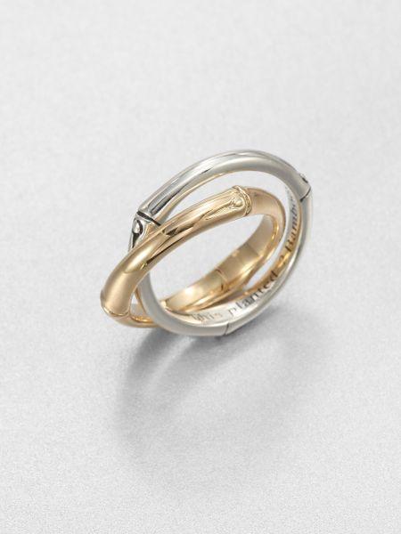 hardy 18k yellow gold sterling silver interlocking