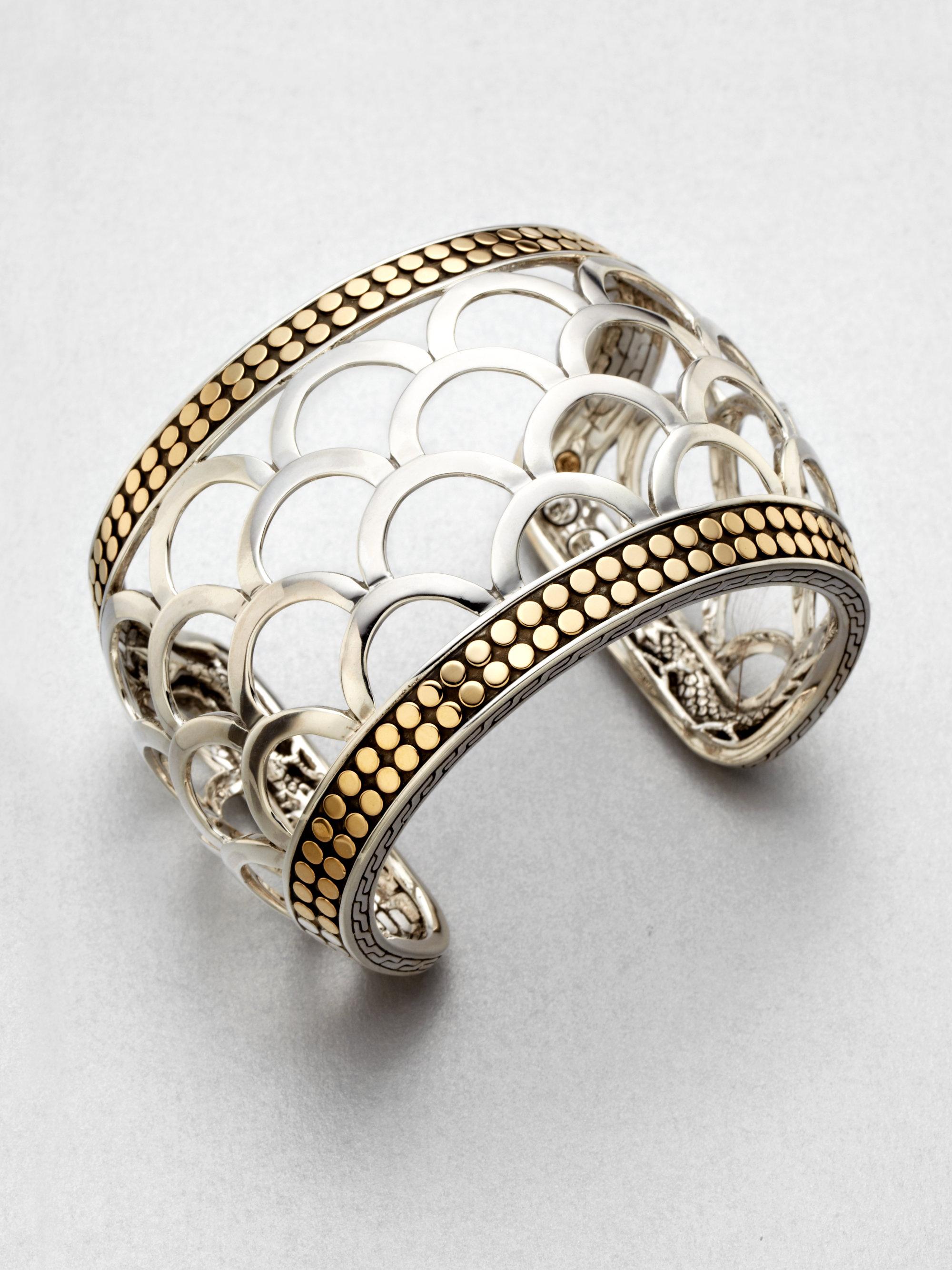 John Hardy 18k Gold Sterling Silver