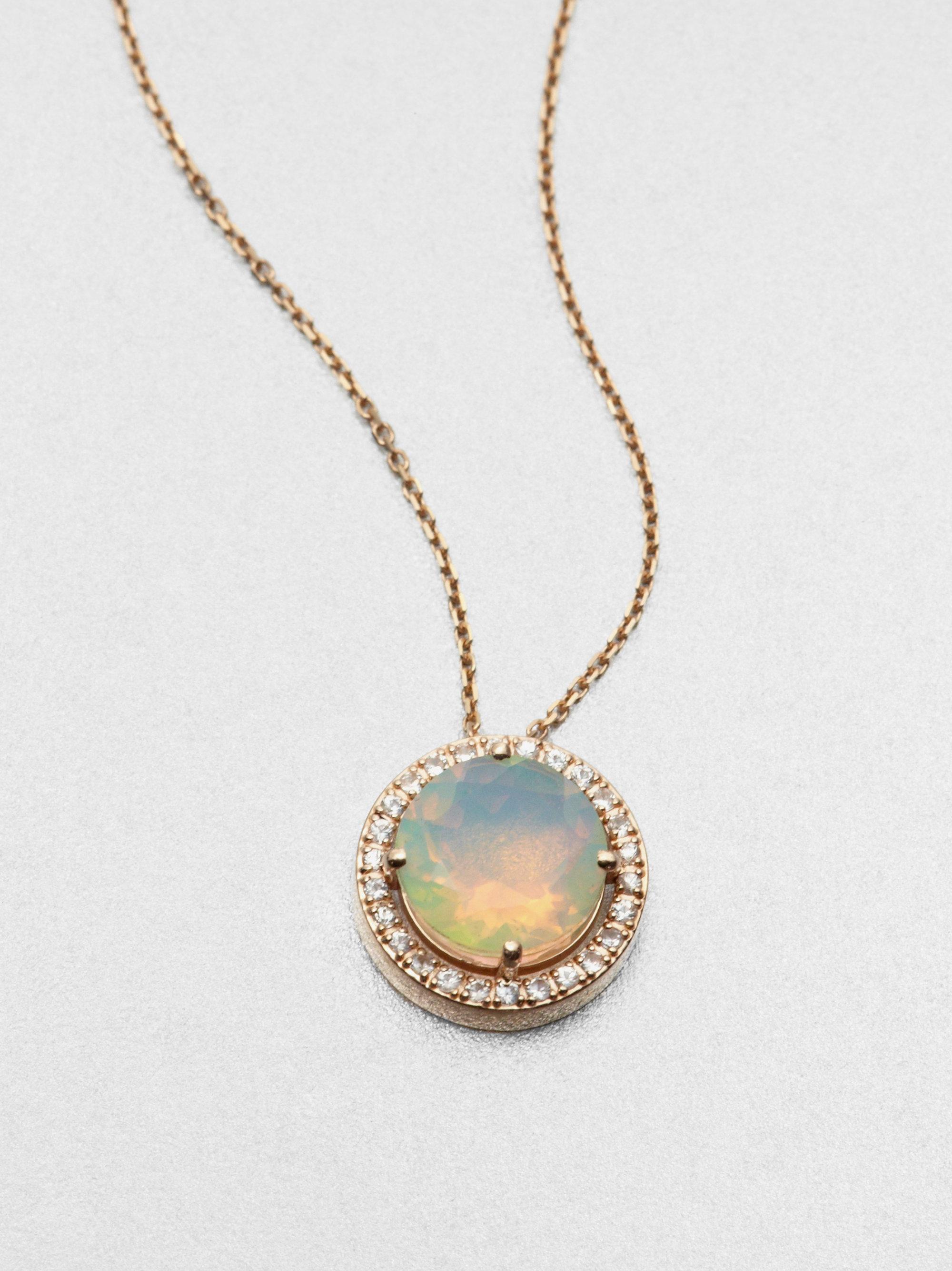 Lyst Kalan By Suzanne Kalan Opal White Sapphire Amp 14k