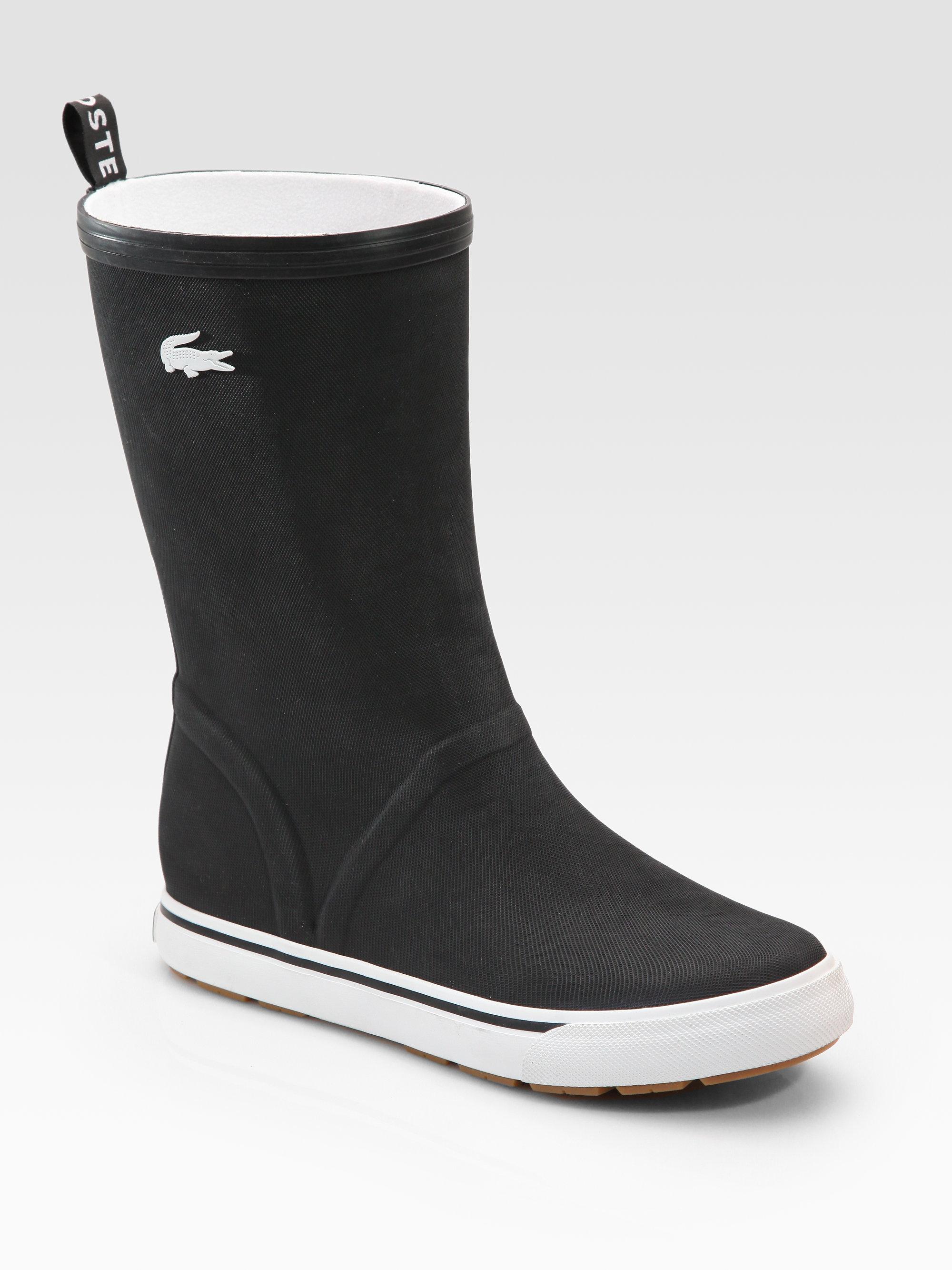 Lacoste Rain Boots in Black for Men | Lyst