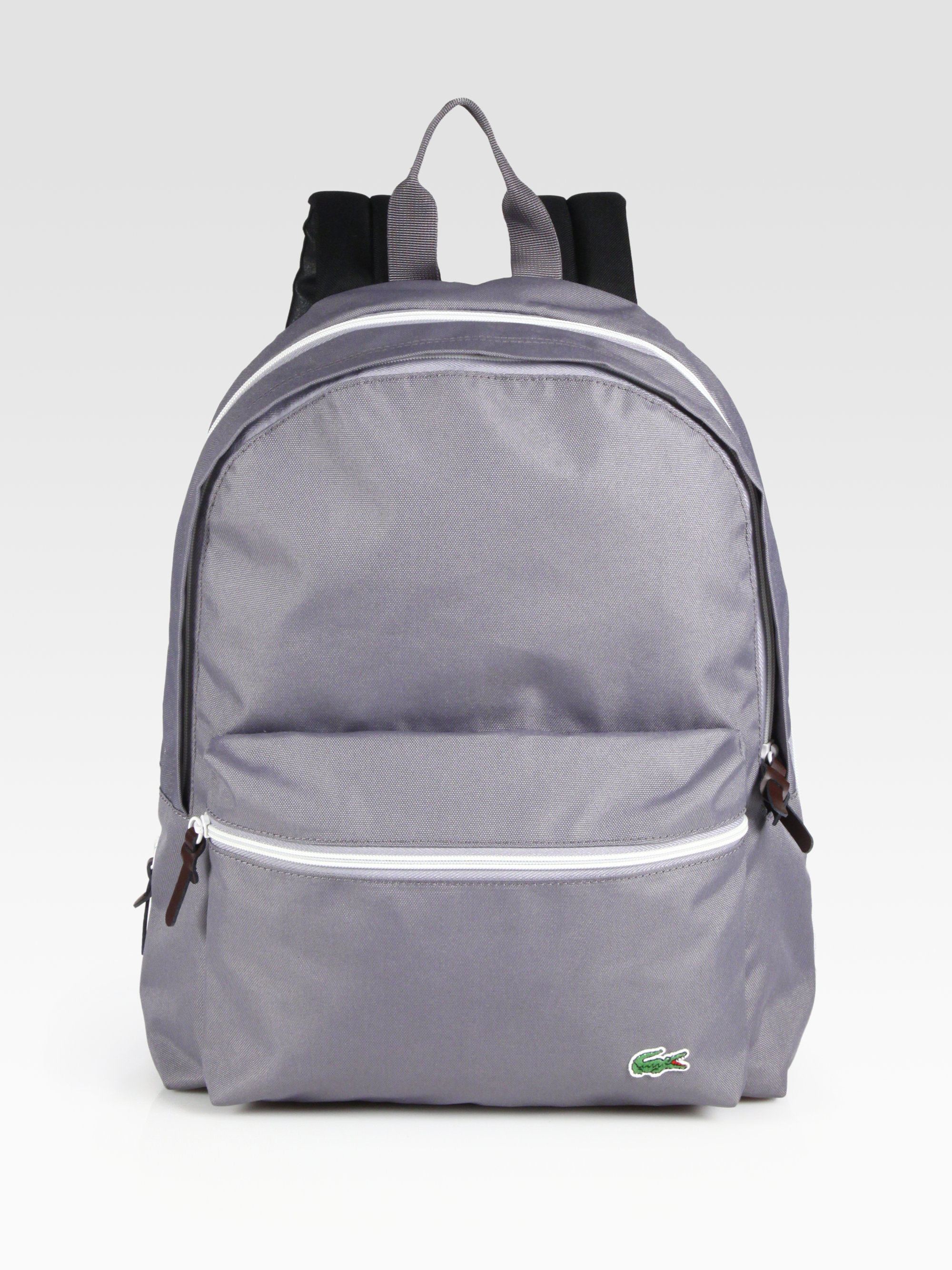 315159bbae Lacoste Backcroc Medium Backpack in Gray for Men - Lyst