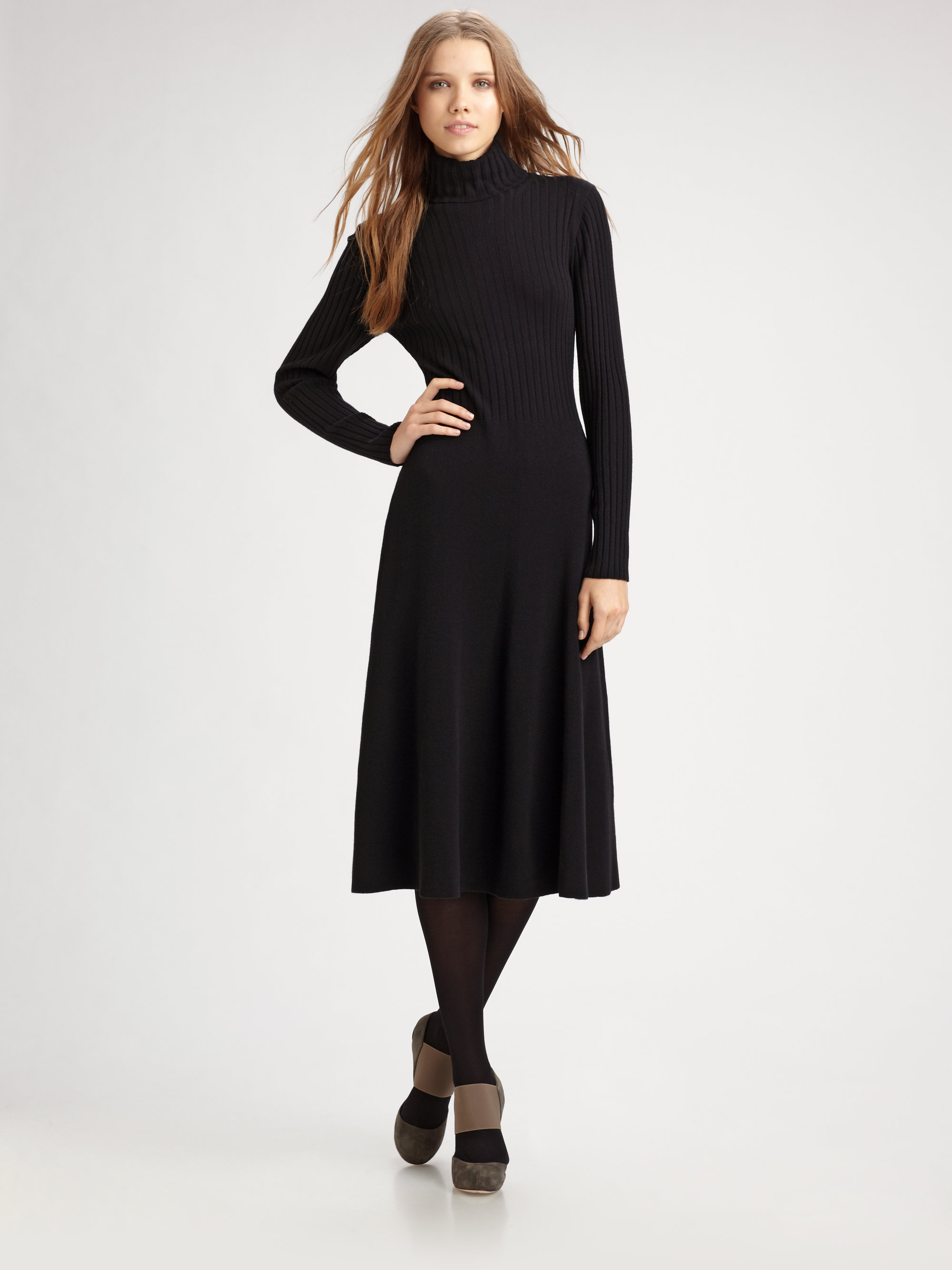 Lyst Lafayette 148 New York Merino Wool Turtleneck Dress