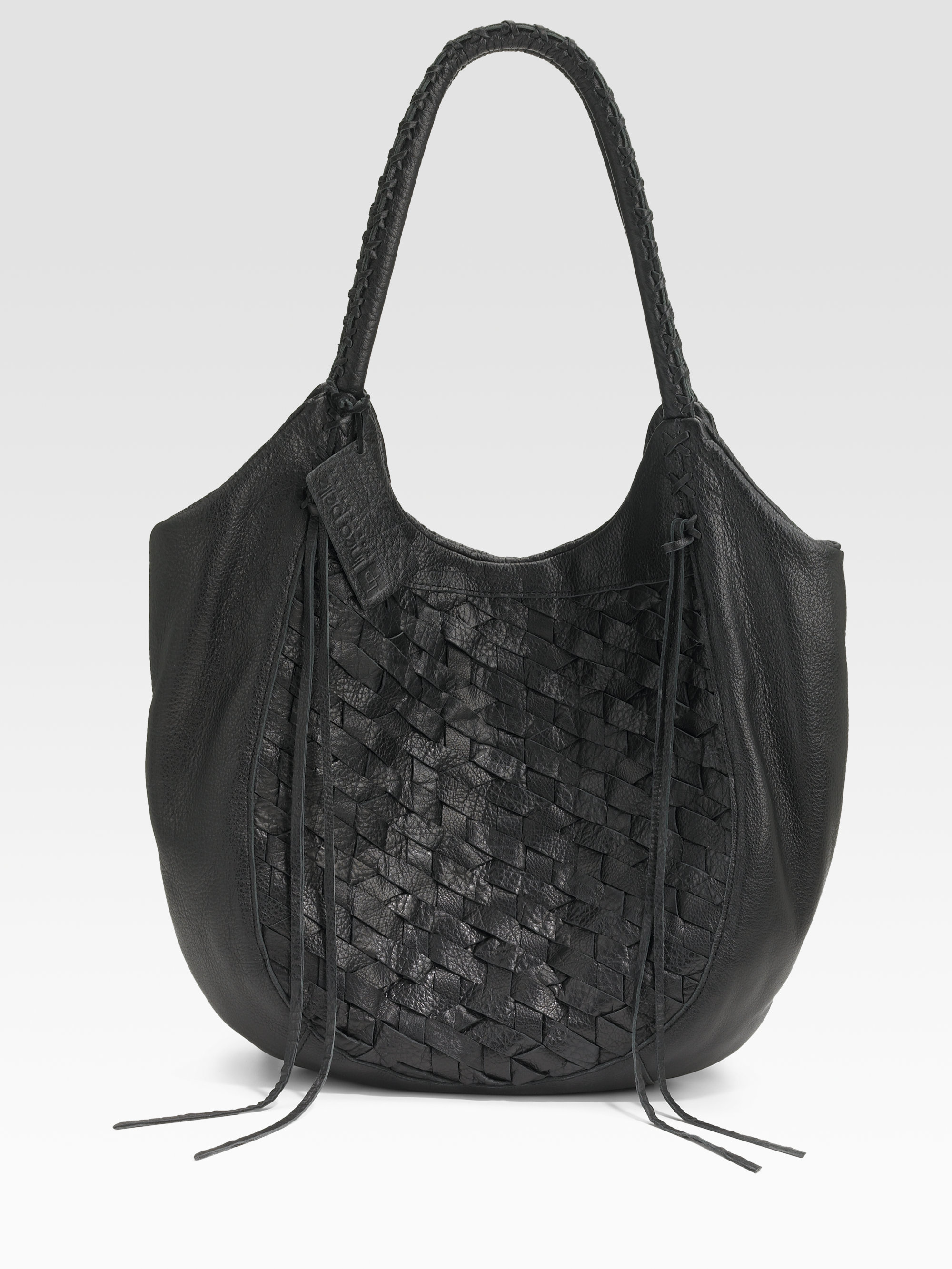 Lyst Linea Pelle Woven Leather Tote Bag In Black