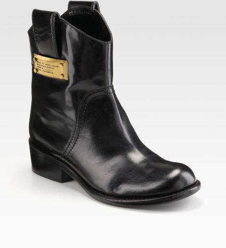 Comfortable Black Fashion Motorcycle Boots Round Toe Flat Short Boots you best choice for School, Going out -TOP Design by FSJ.