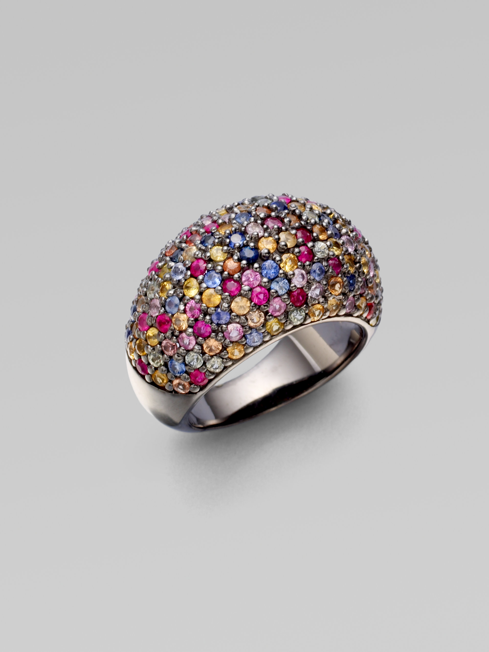 bulgari of collection at diamond multicolored peridot vintage a flower multicolor pin from earrings unique drop sapphire gold