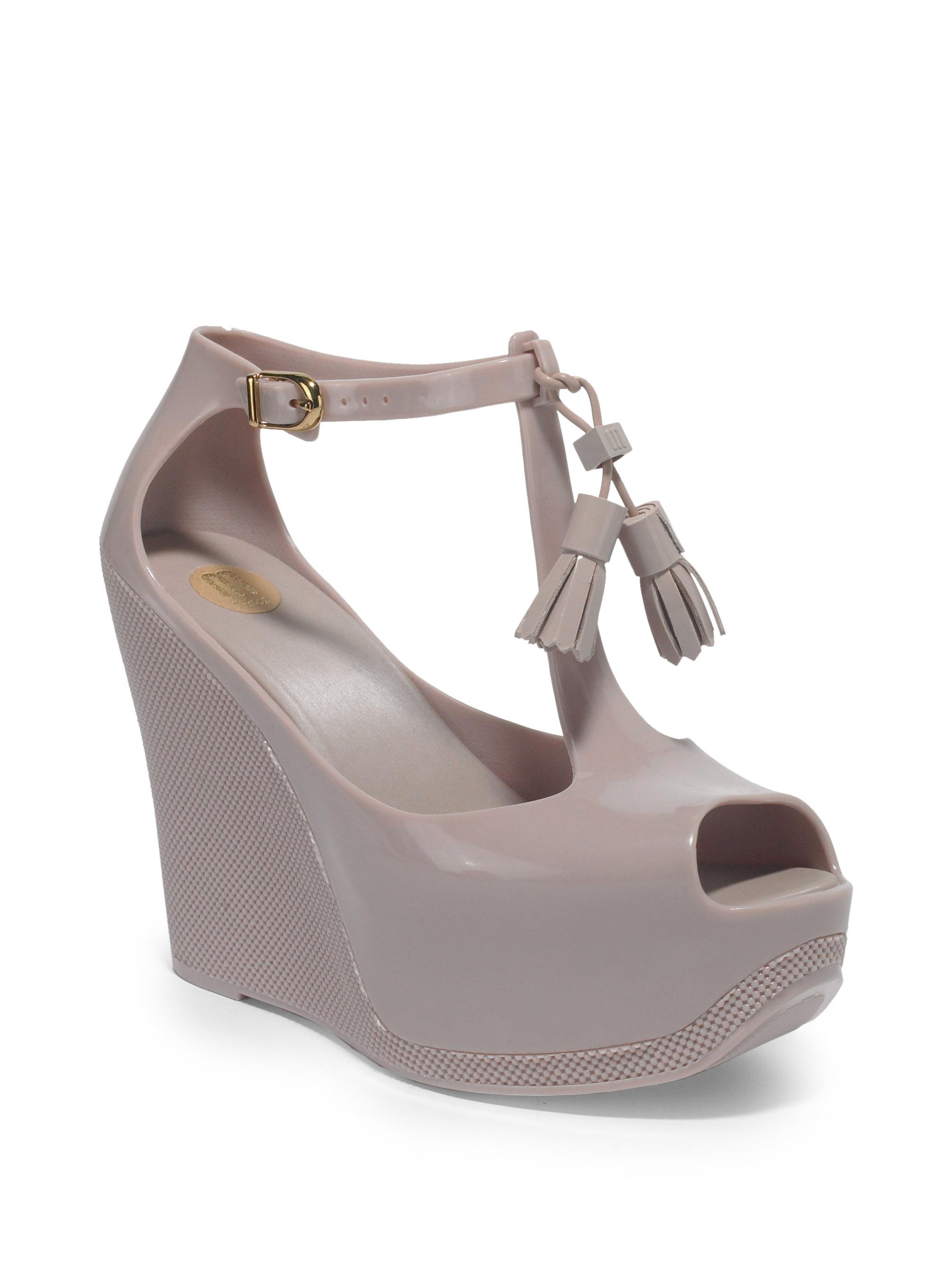 d5c79483f2d Melissa Pink Peace Platform Wedge Sandals