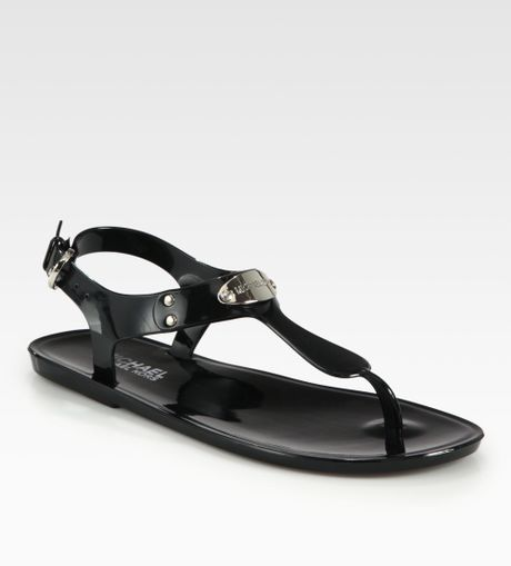 Michael By Michael Kors Logodetail Jelly Sandals In Black