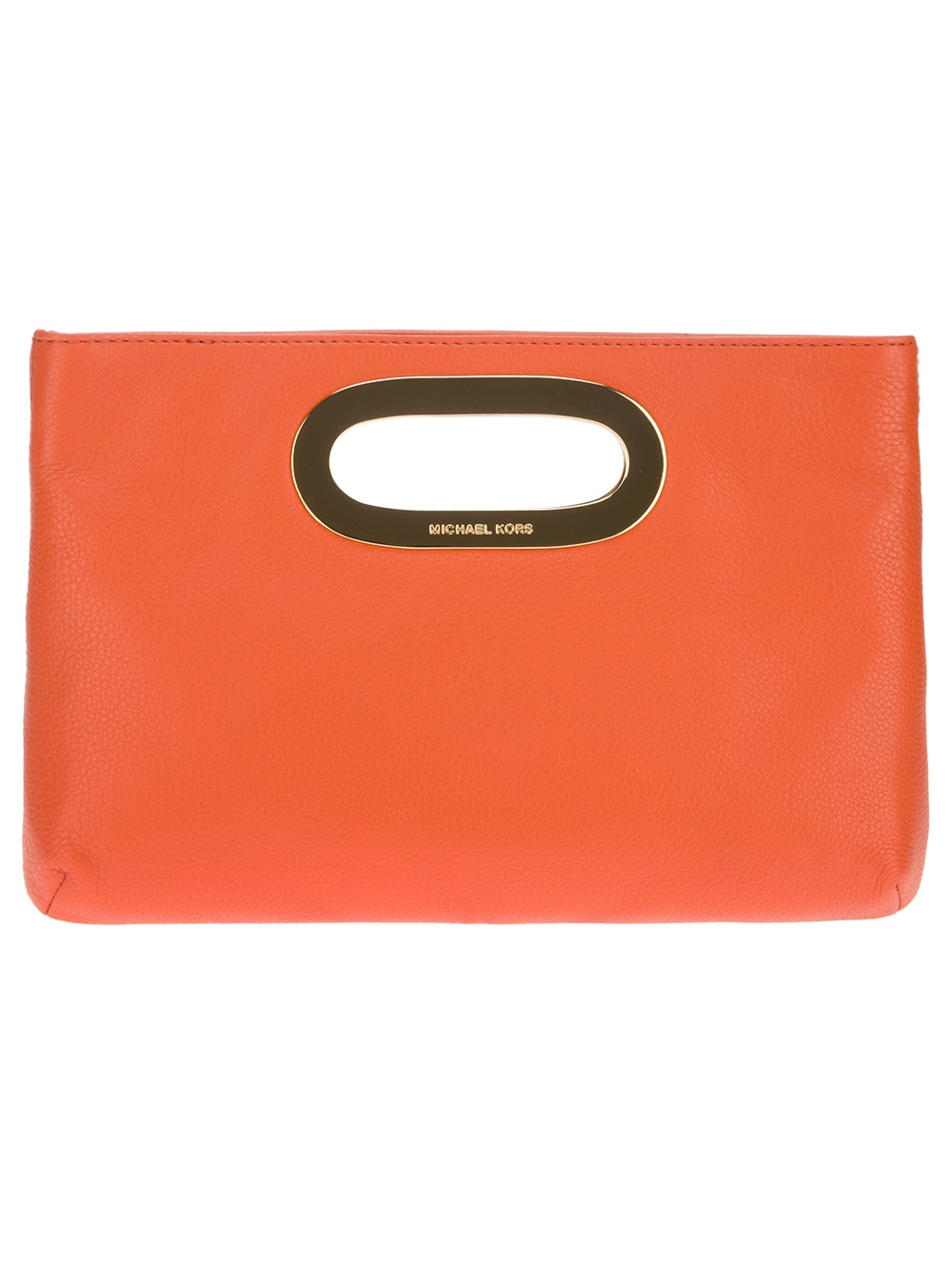 ade0b8382ced ... clearance michael michael kors berkley clutch bag in orange lyst a1e7c  2c350