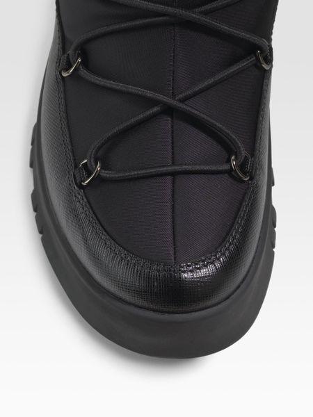Prada Winter Boots In Black Lyst