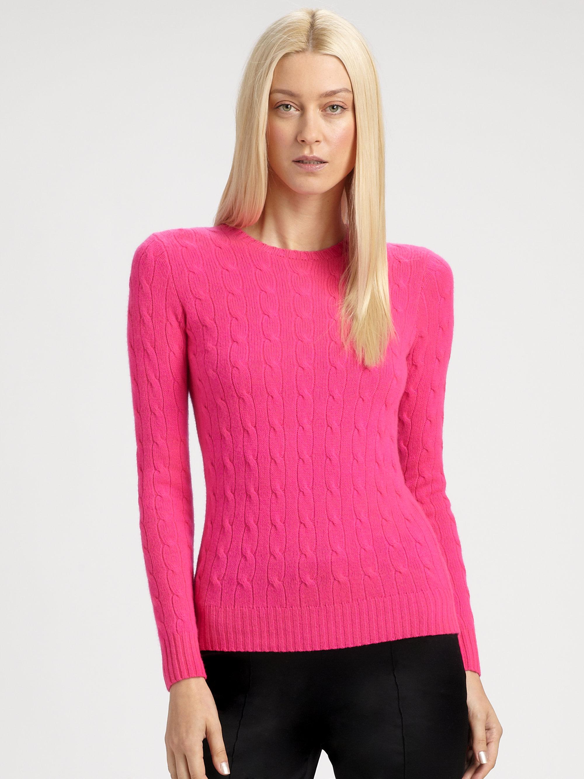 2f43e9c4de Ralph Lauren Black Label Black Cableknit Cashmere Sweater