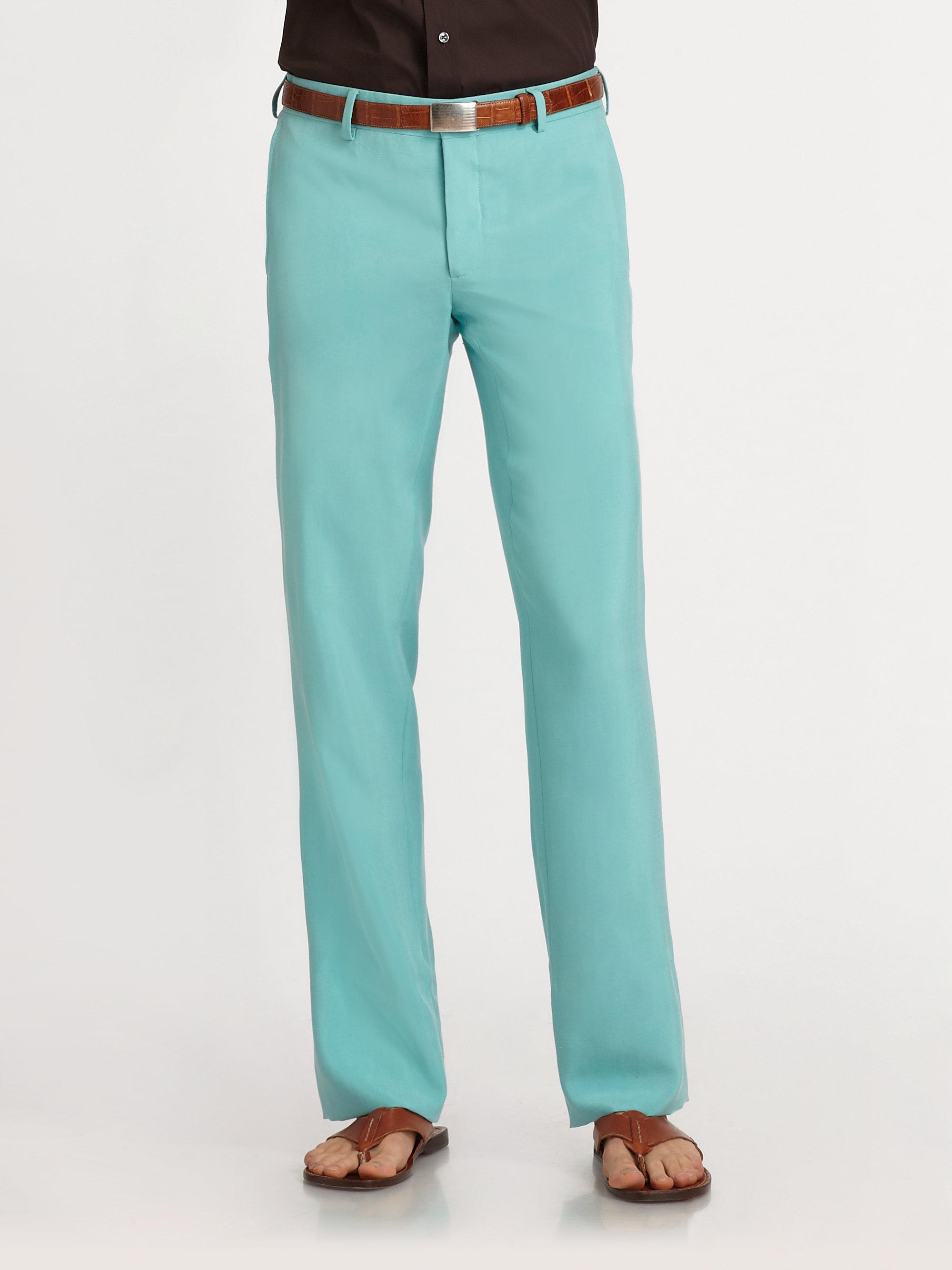 Lyst Ralph Lauren Black Label Milano Pants In Blue For Men