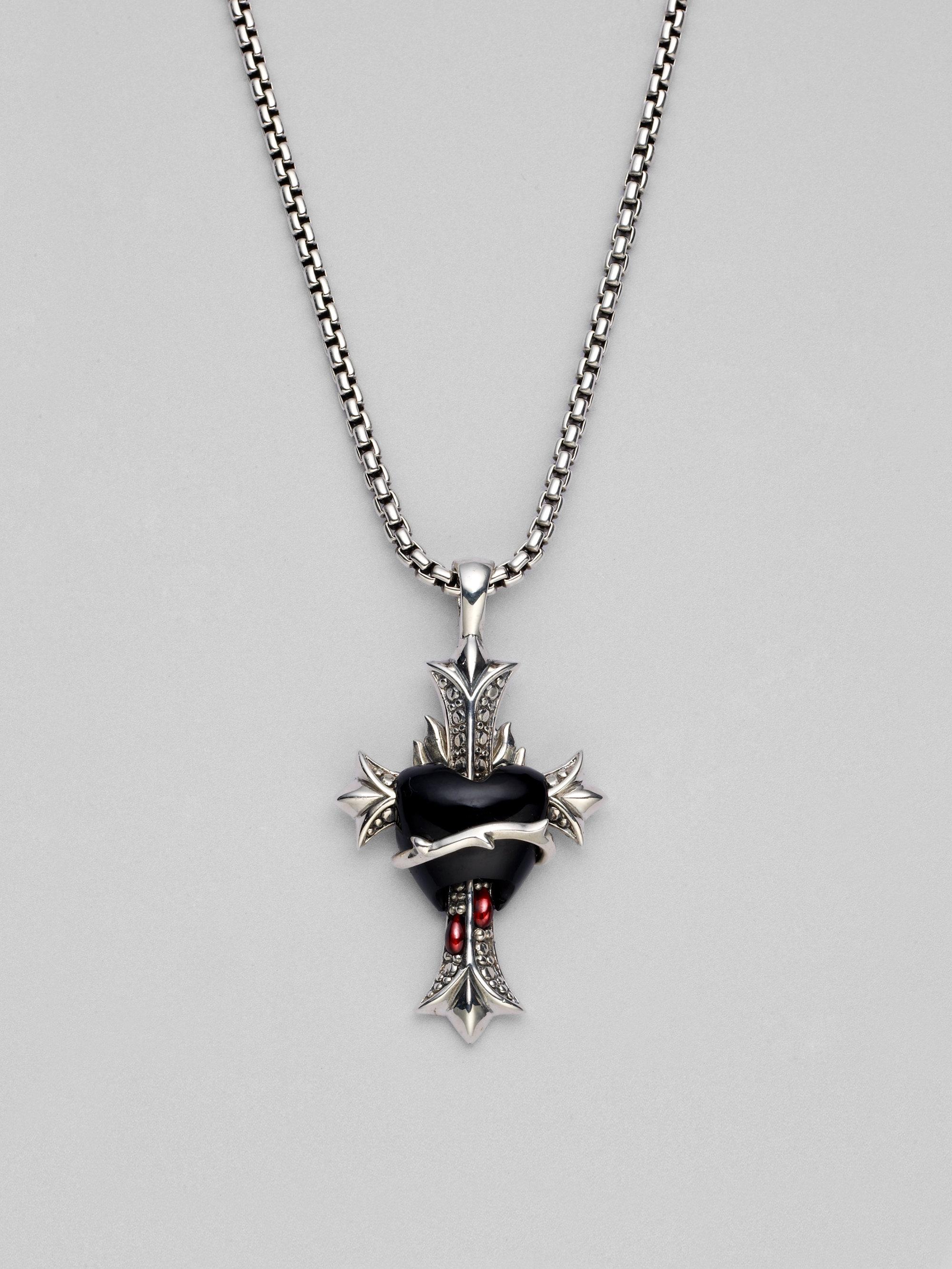 Stephen Webster Black Onyx Garnet Amp Sterling Silver
