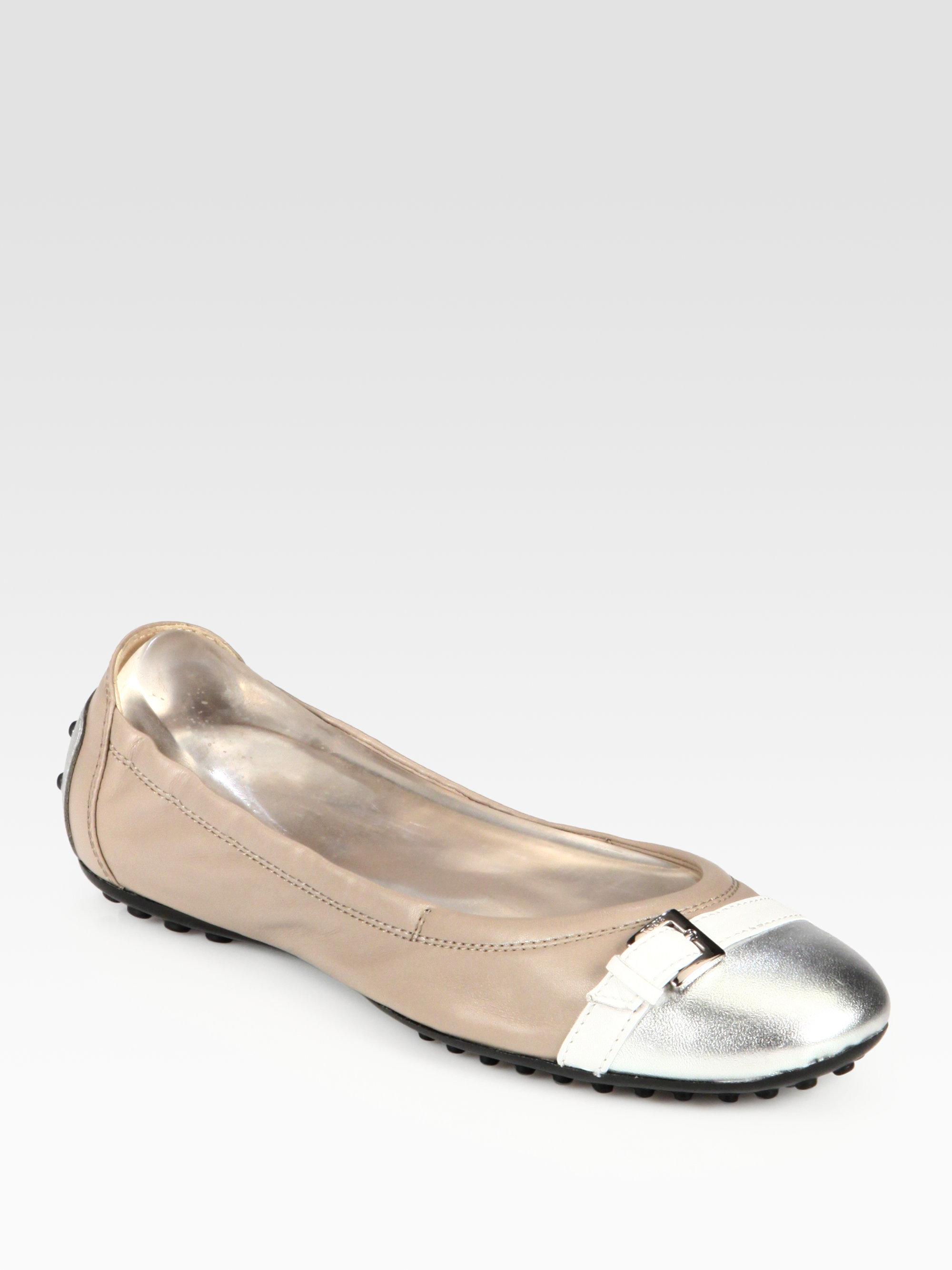 Tod's Metallic Ballerina Flats free shipping amazon GHatVsdH06