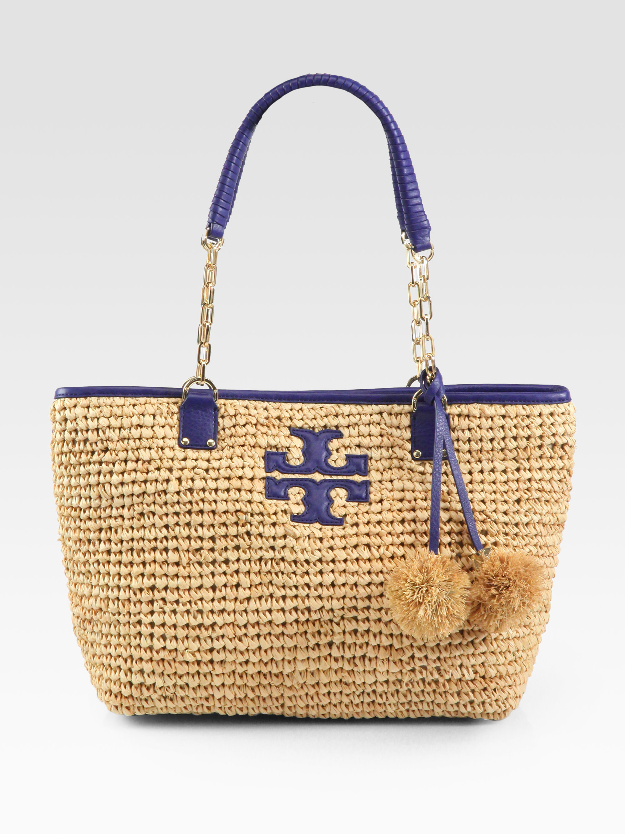 49efe7532ac Lyst - Tory Burch Thea Straw Tote in Brown