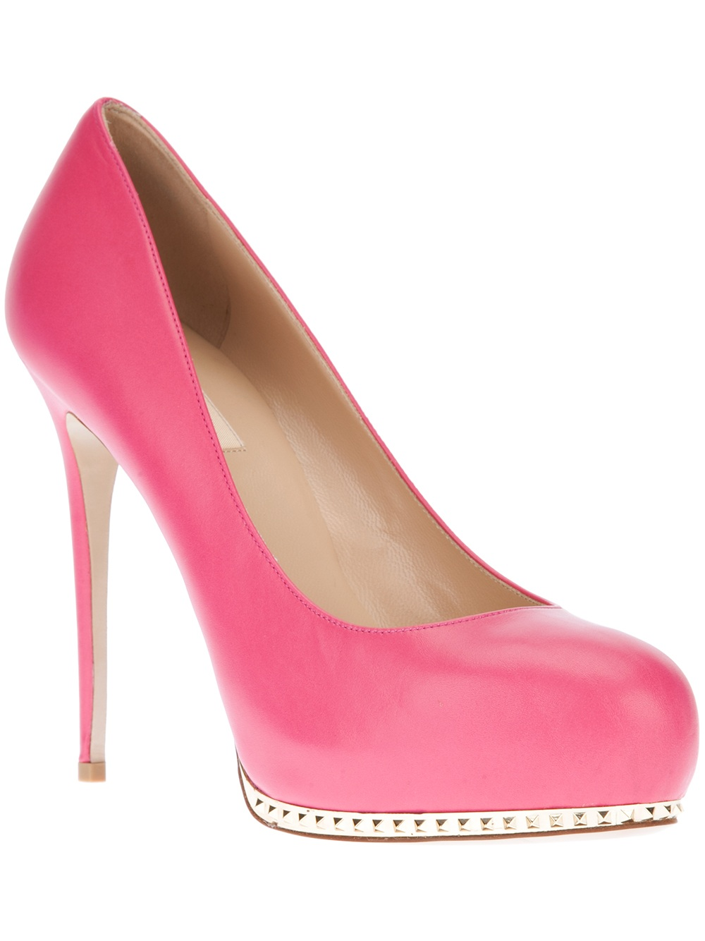 Lyst Valentino Studded Pump In Pink