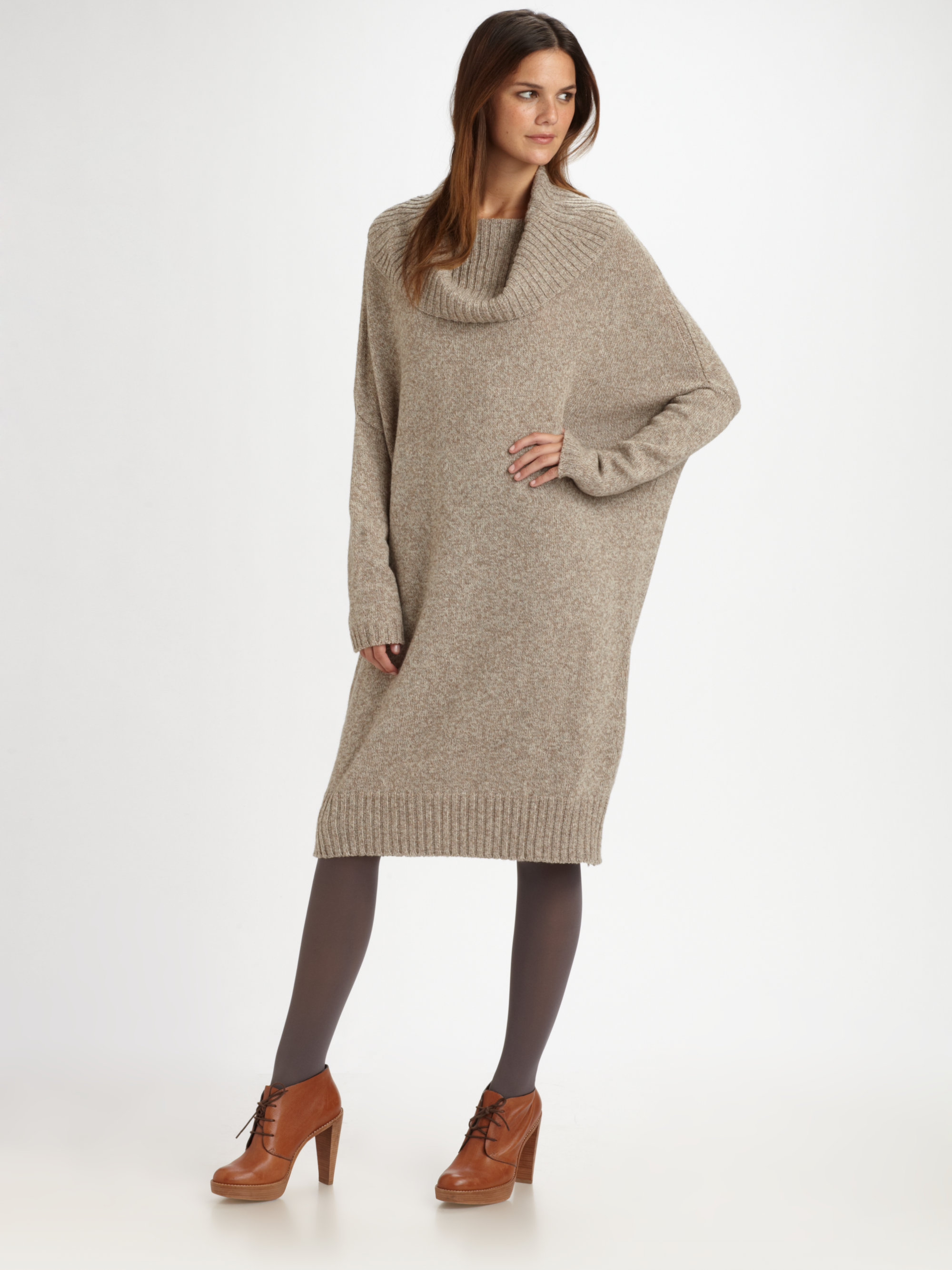 Weekend by maxmara Oversized Tunic Sweater Dress in Natural | Lyst
